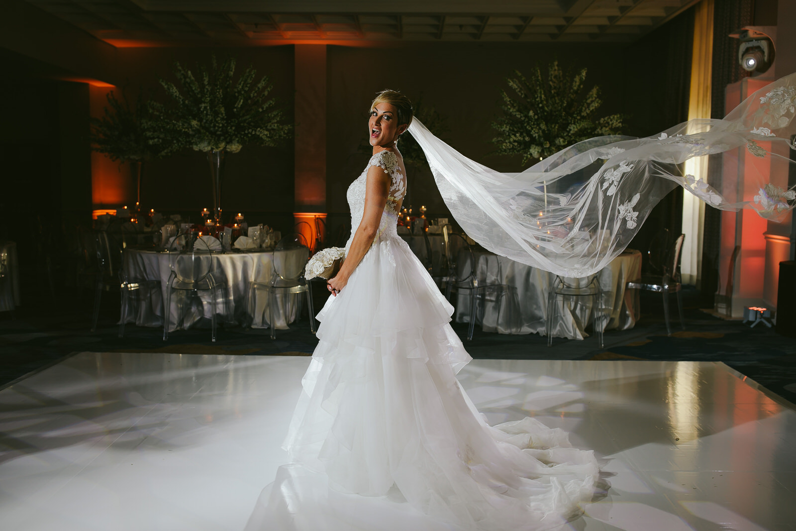 Fun Bridal Portrait Miami Wedding