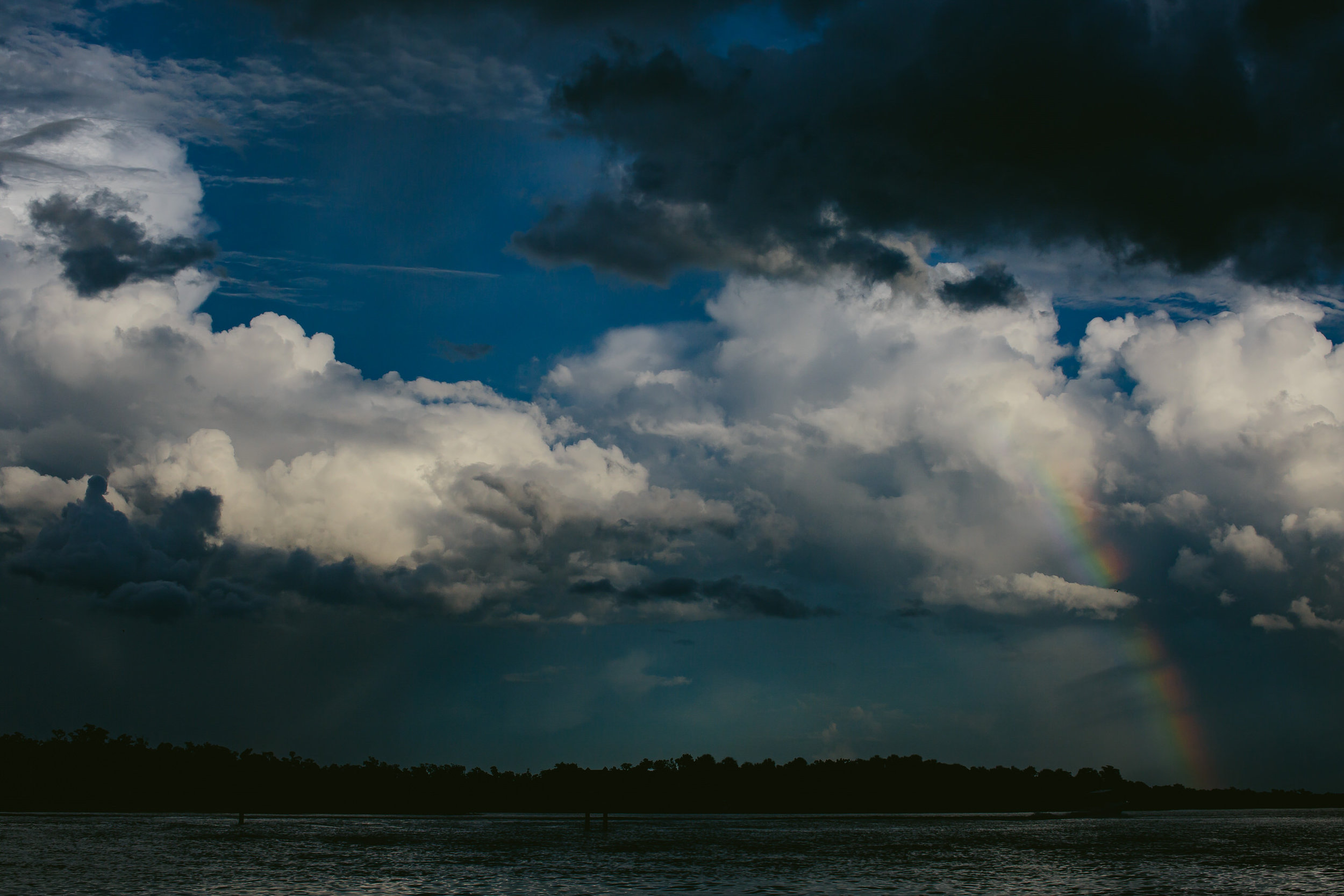 Stormy Weather Rainbow Naples Florida Nature Photography