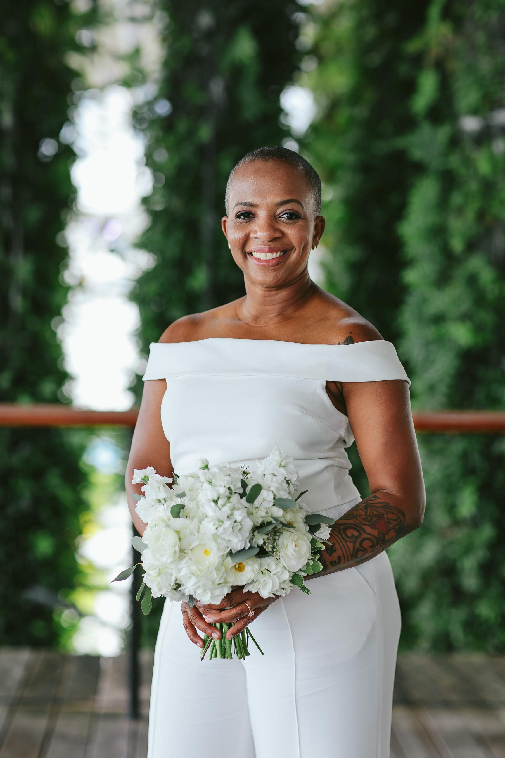Bride Portrait Elopement LGBTQ Ceremony PAMM