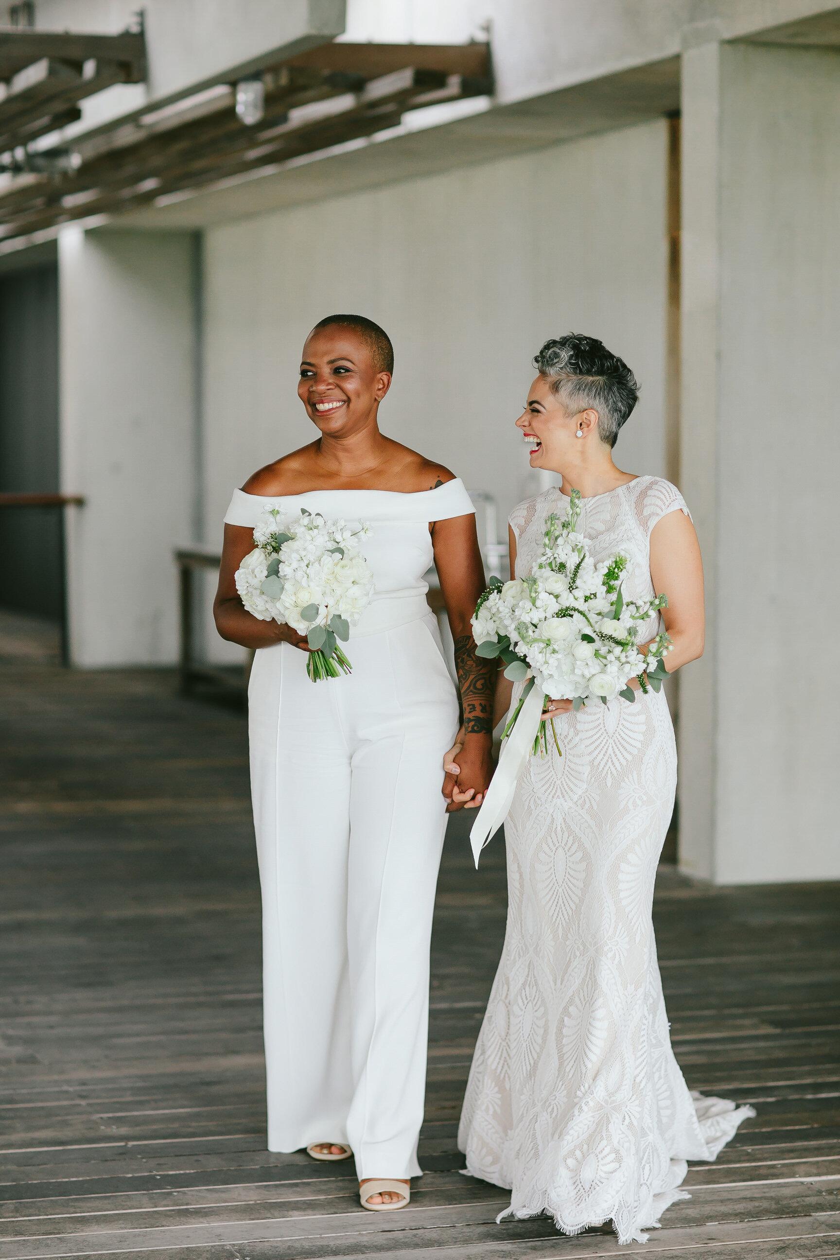 Two Brides Eloping Perez Art Museum Miami