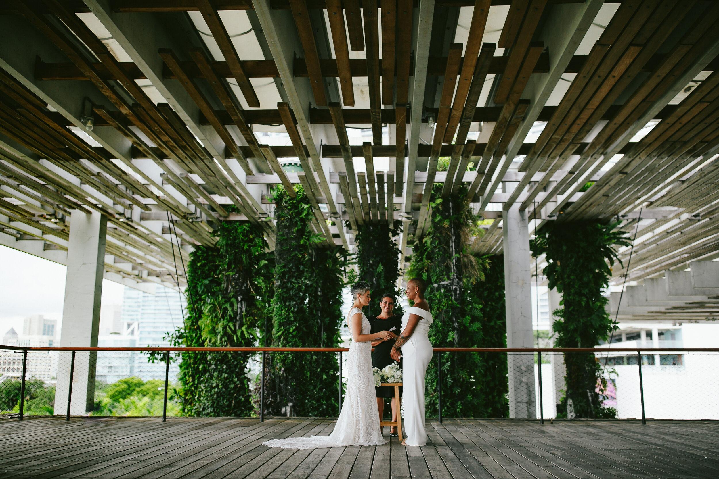 Miami Elopement Two Brides Tiny House Photo