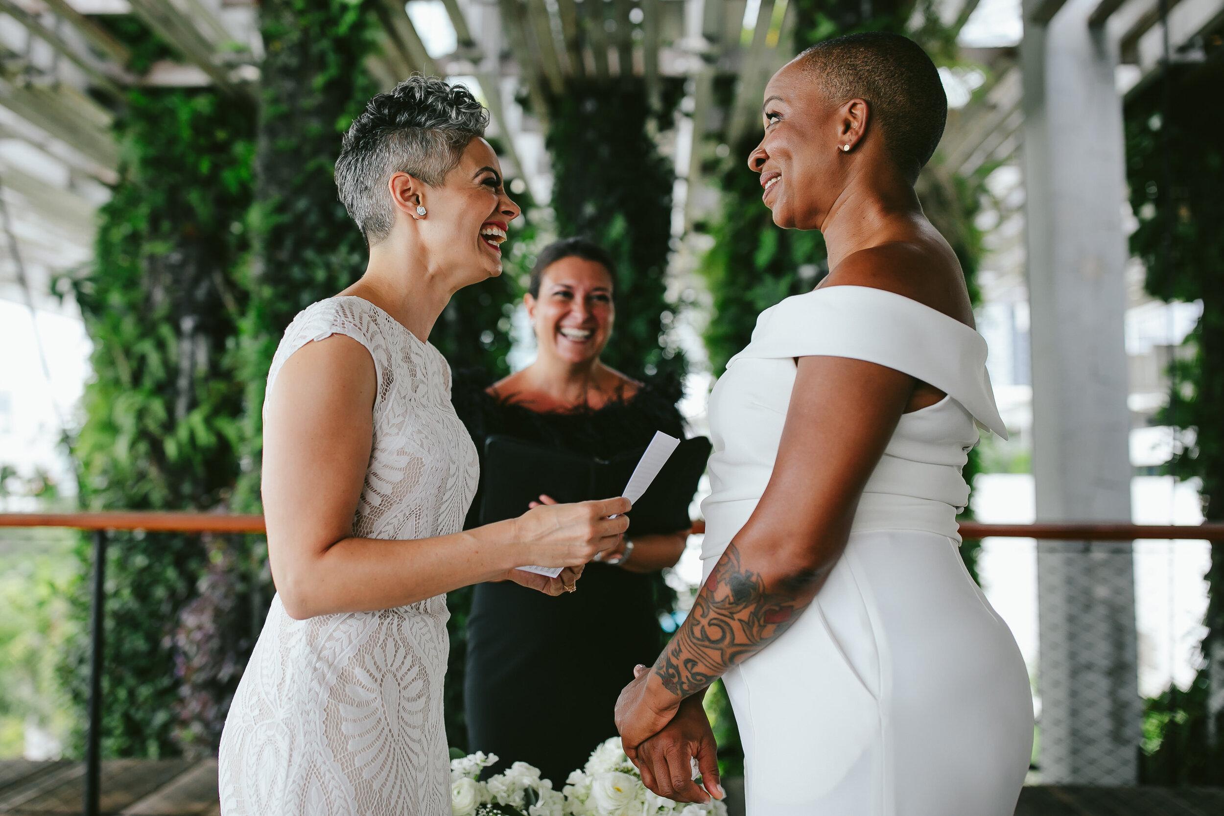 Emotional Elopement Ceremony Two Brides Miami