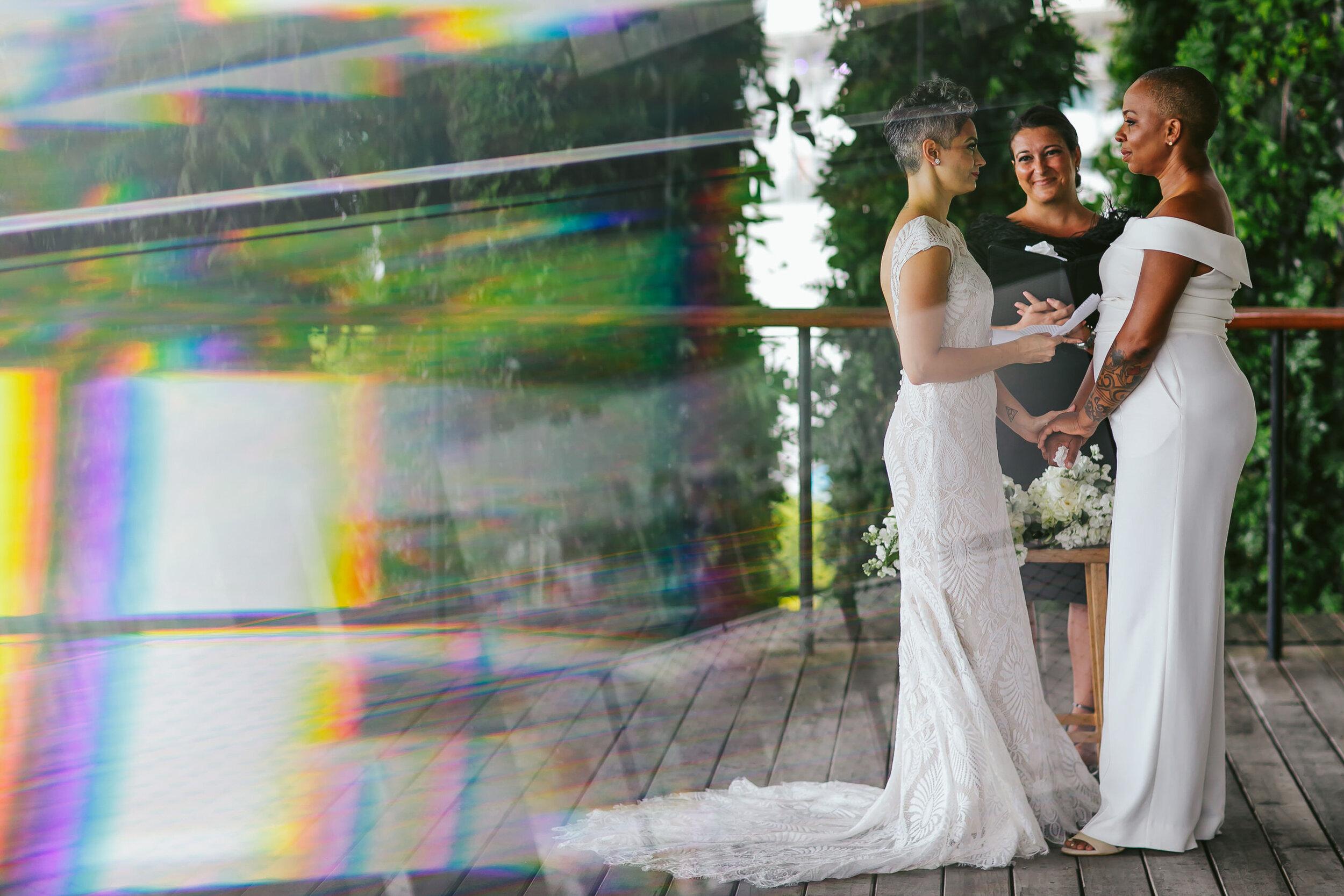 Rainbow Flare Lesbian Elopement Miami