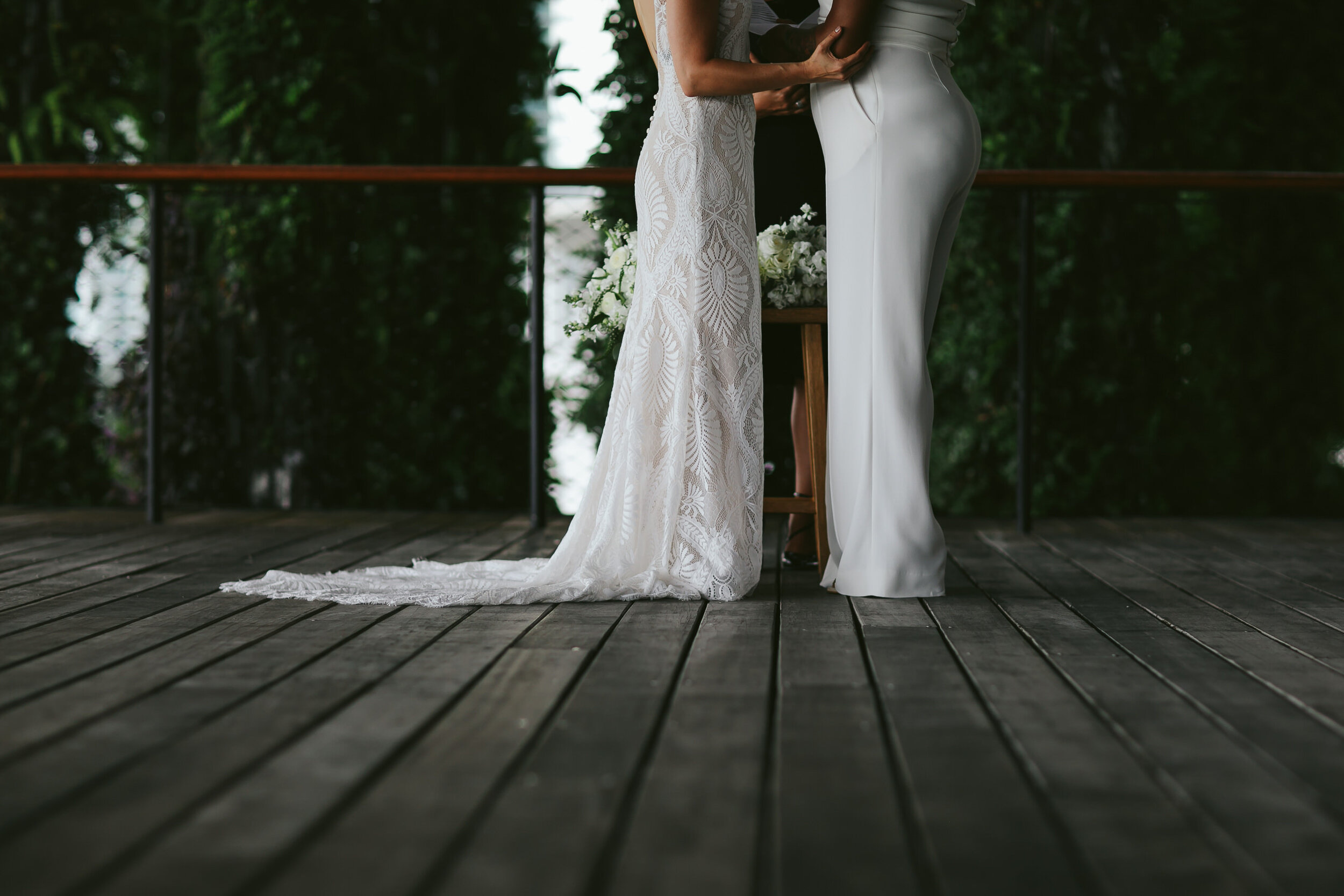 Two Beautiful Brides Elope Miami
