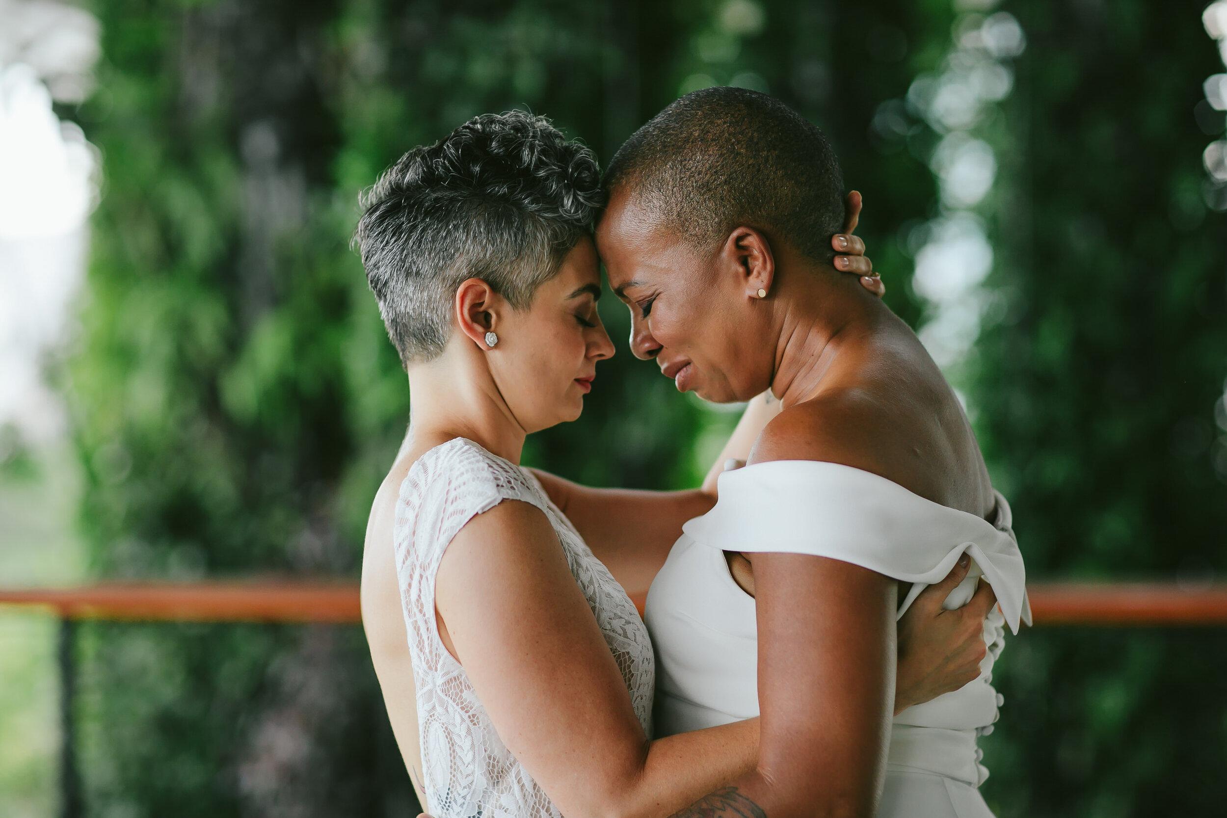 Emotional Moment LGBTQ Wedding Miami
