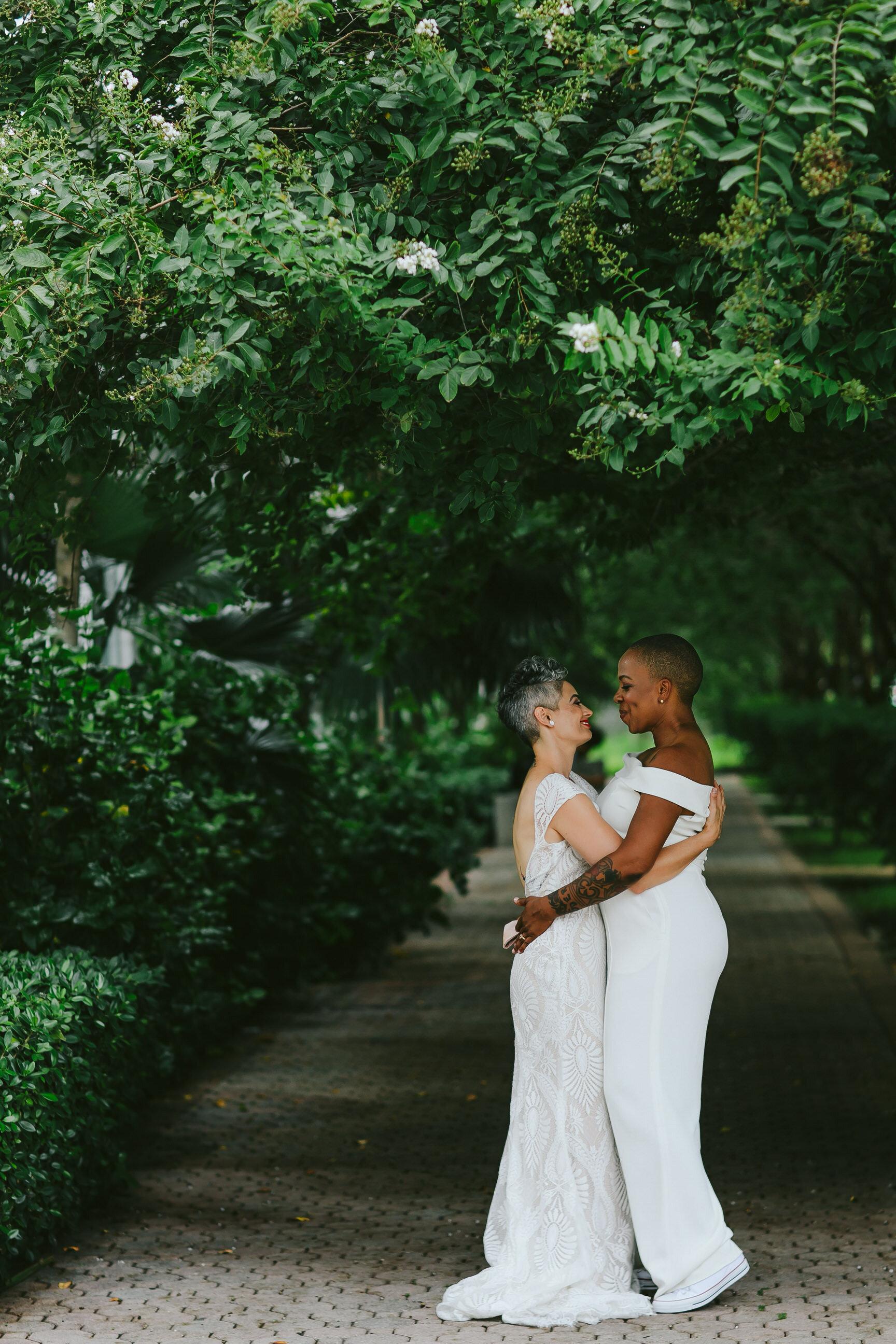Two Gorgeous Brides Miami Elopement