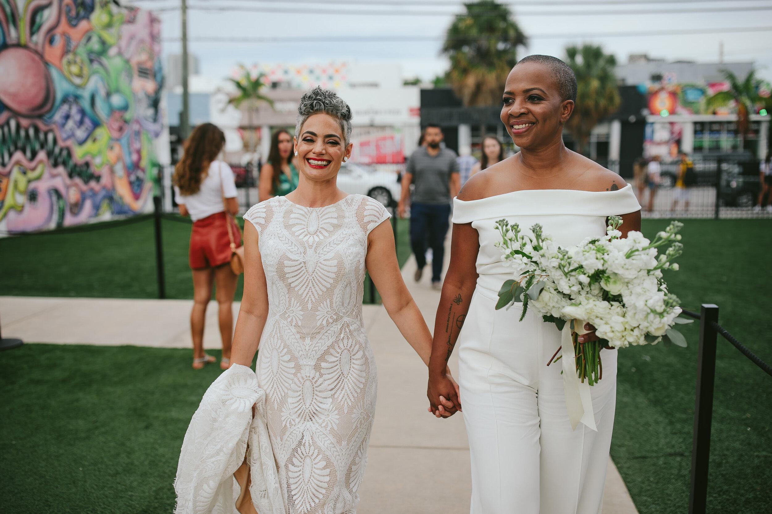 Wynwood Elopement LGBTQ Couple Miami