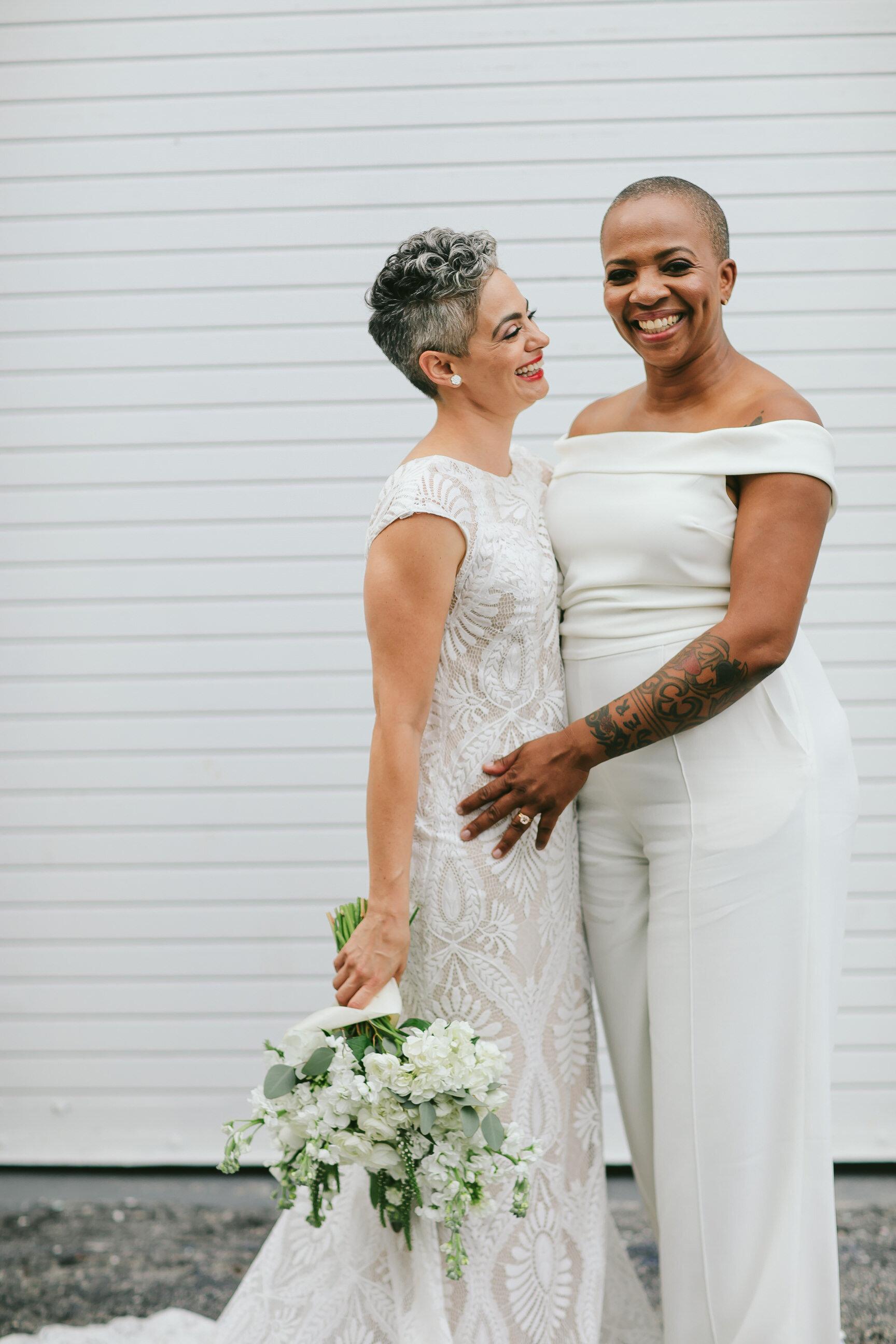 Two Gorgeous Brides LGBTQ Elopement Miami