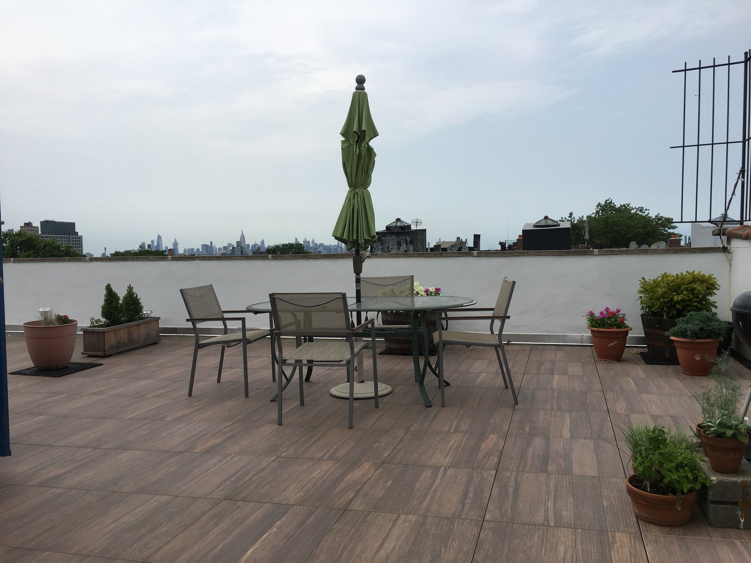home improvement projects, and our roof deck