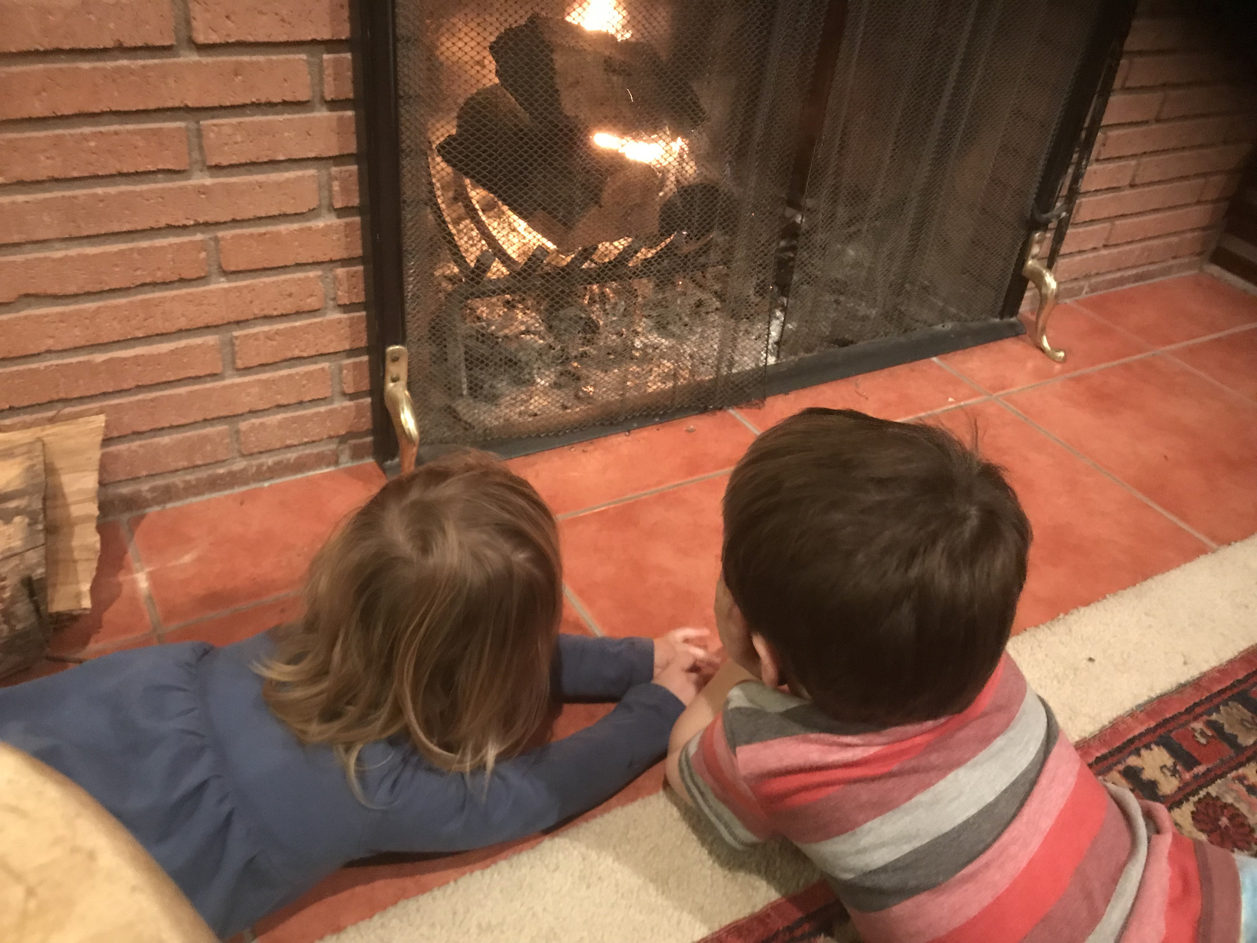 Nephew and cousin holiday bonding time