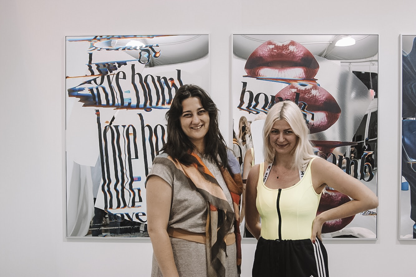 Art Advisor Tracy Kinnally with artist Hannah Perry