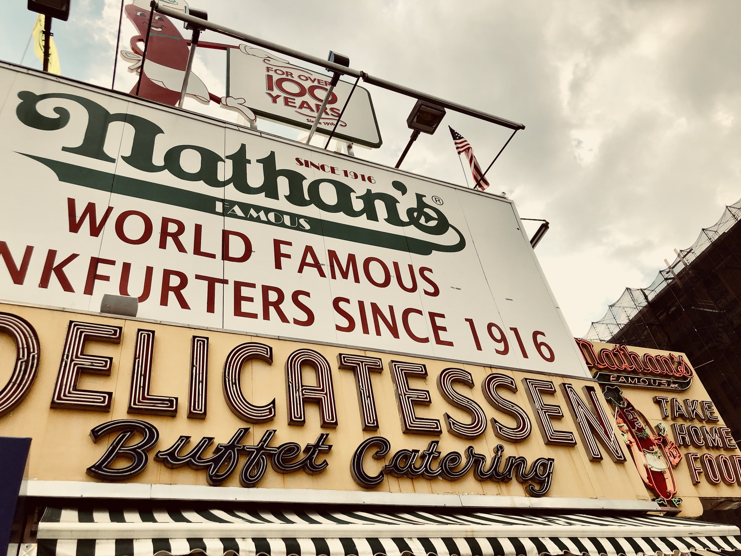Image taken by Samantha McHenry, Nathan's Hot Dog Stand, 2018.