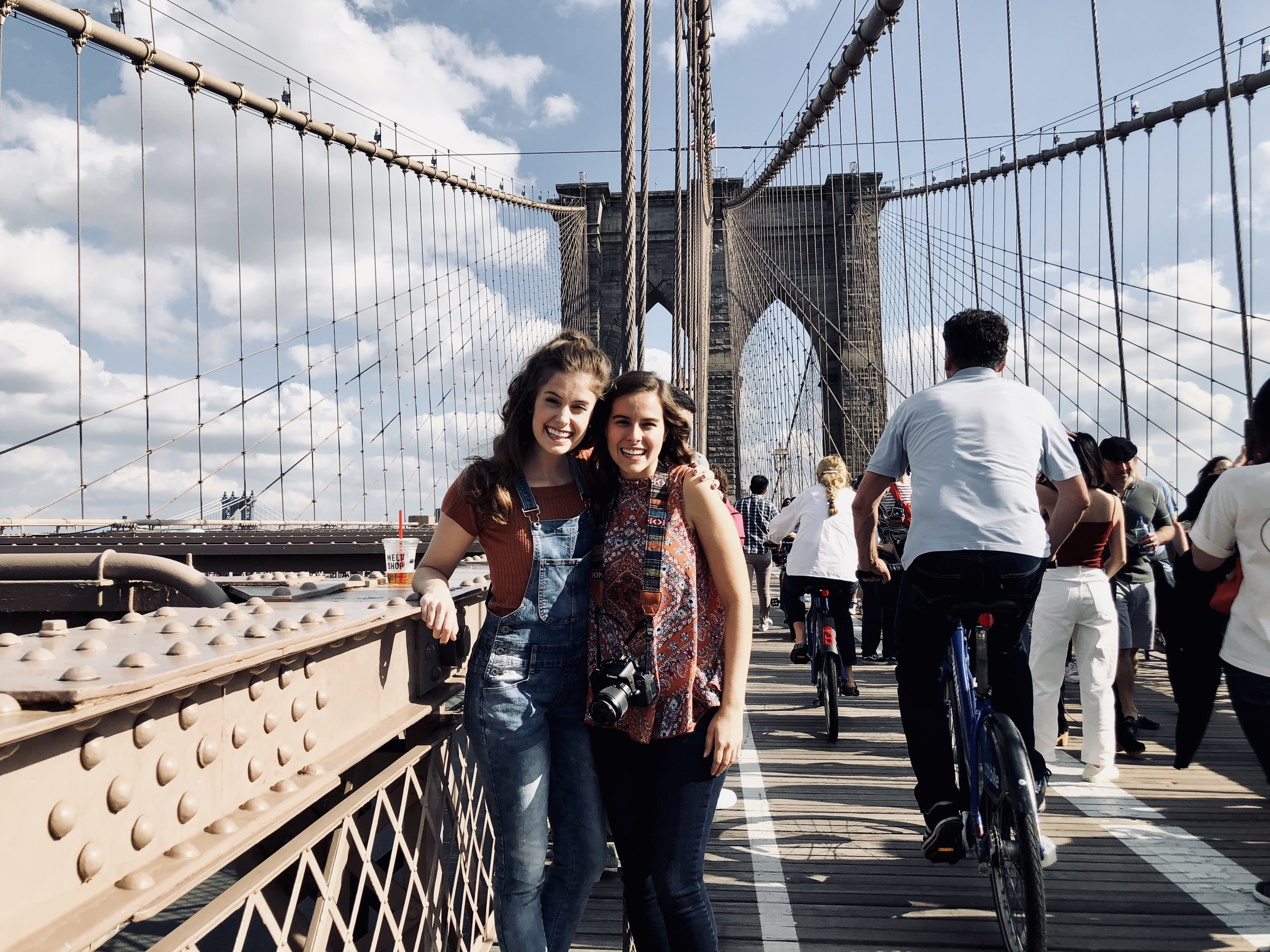 Photo taken by New Yorker, Edited by Samantha McHenry. Brooklyn Bridge, October 2018.