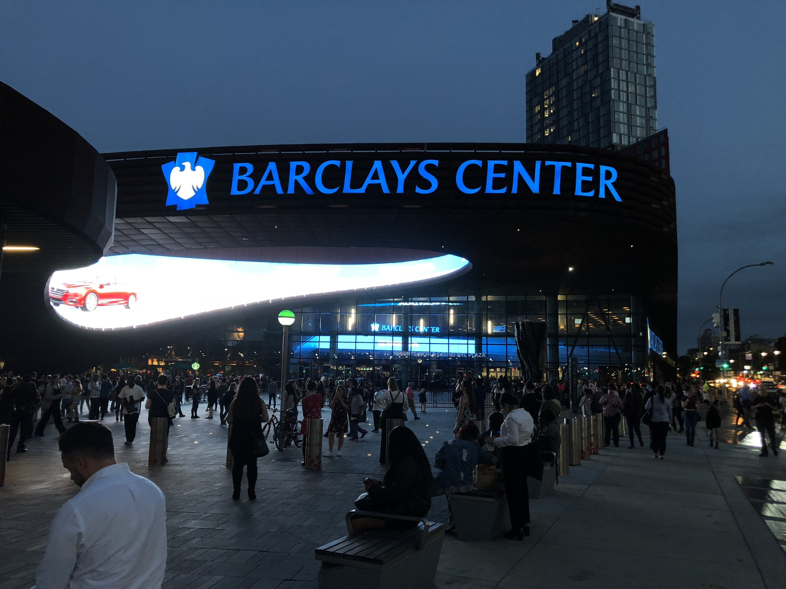 Photo taken by Samantha McHenry. Barclays Center, October 2018.