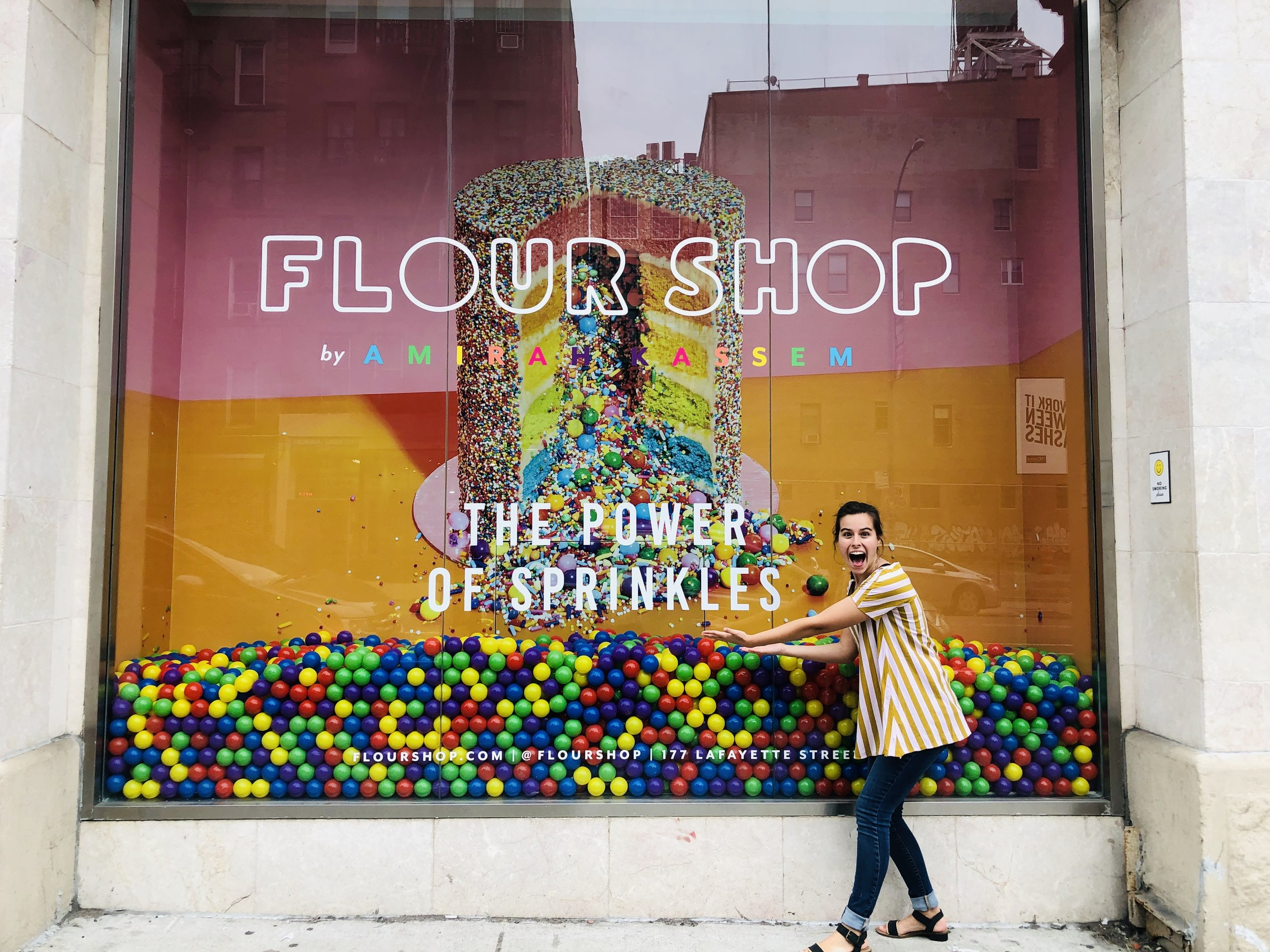 Image of Sara Kreski and Flour Shop, taken by Samantha McHenry. Manhattan, 2019.