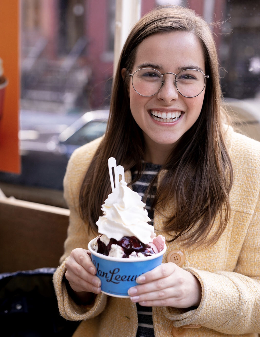 Image of Sara Kreski and Van Leeuwen's Ice Cream, taken by Jenni Johnson Photography, 2019.