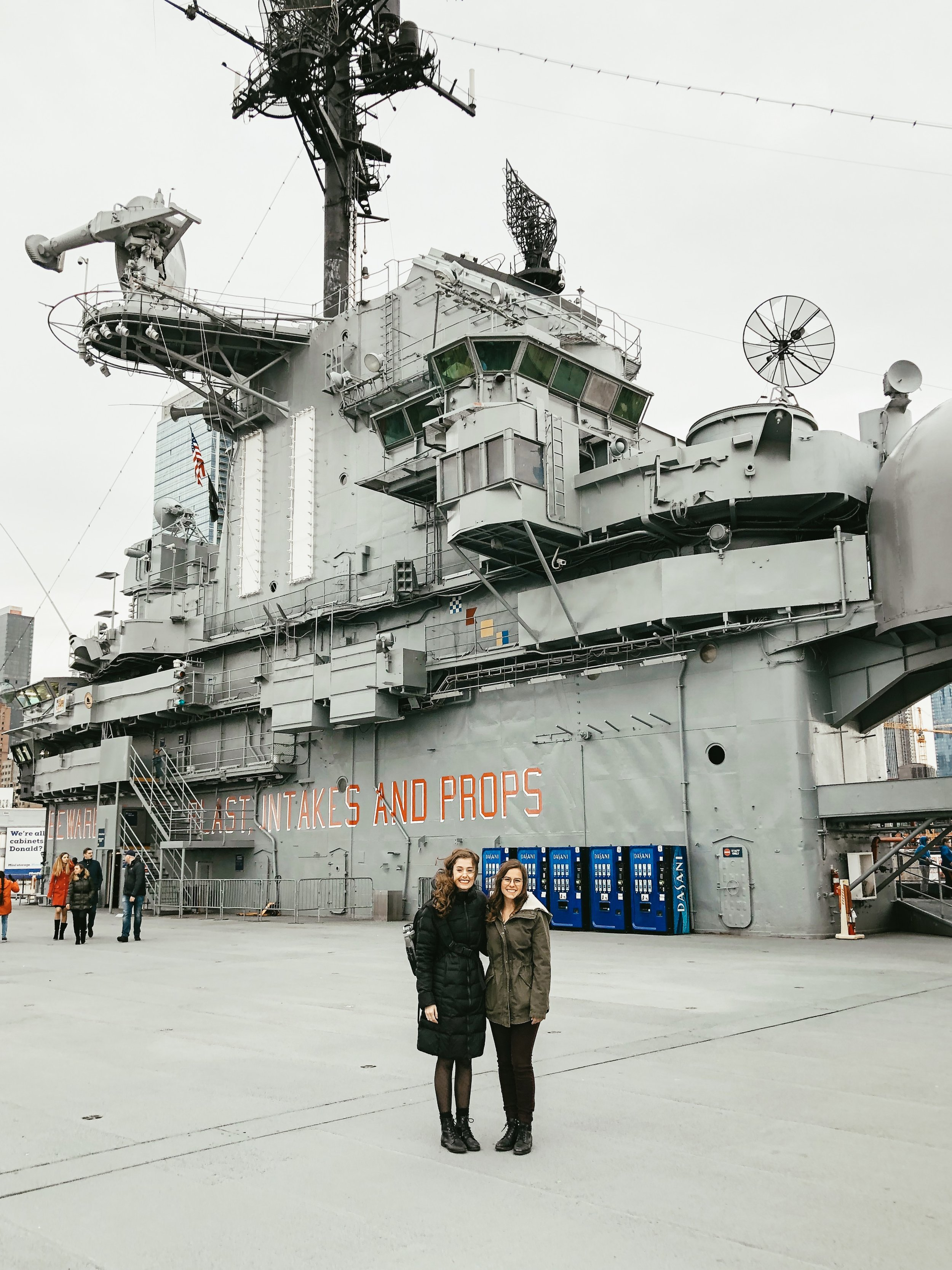Photo taken by very happy stranger, Intrepid Air Sea and Space Museum, 2019.