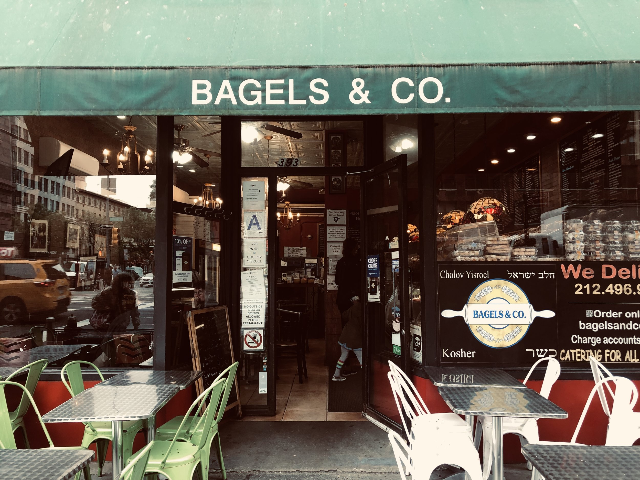 NYC Bagels & Co, Image taken by Samantha McHenry, 2019.