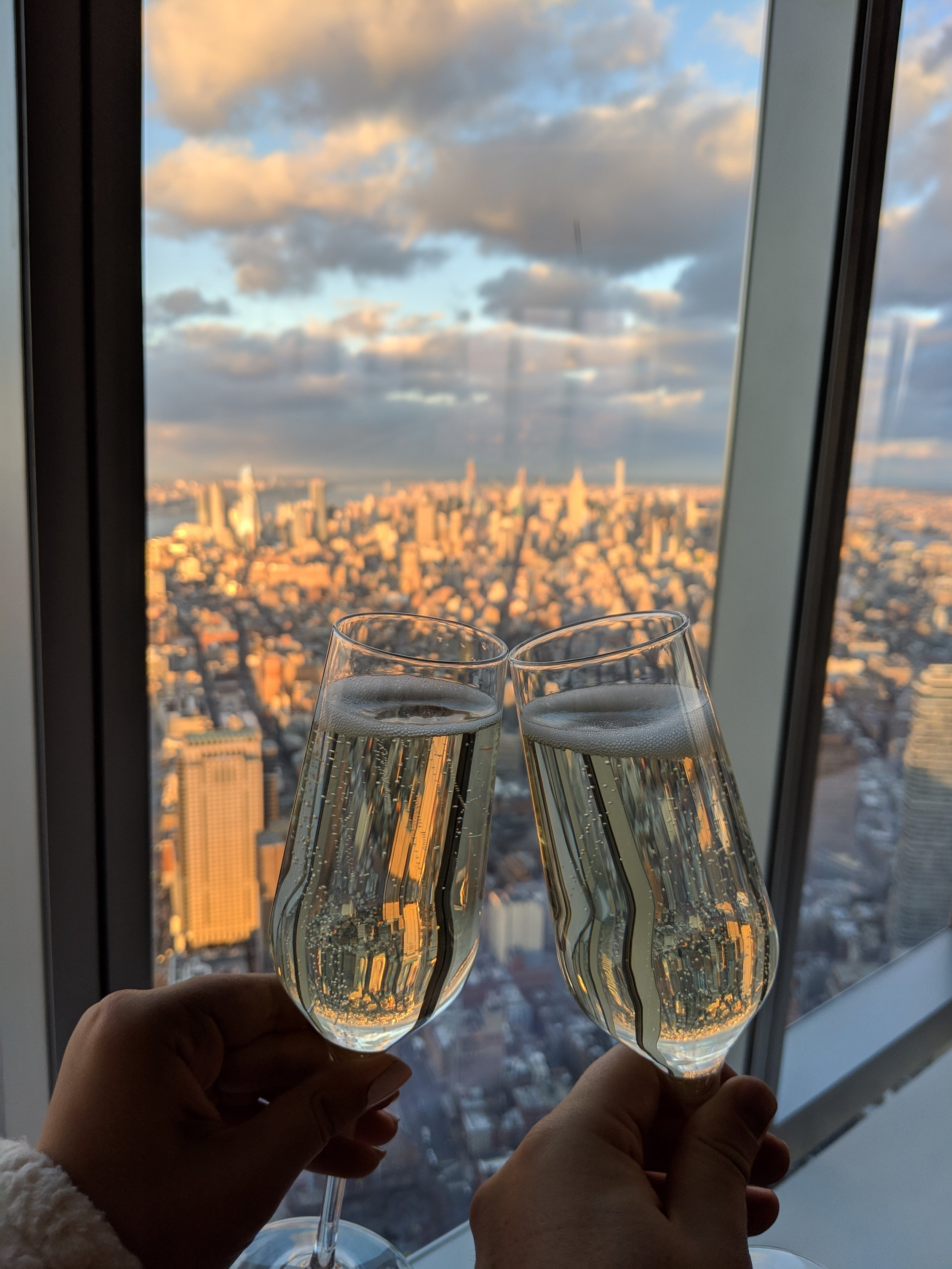 Cheers from the top of  One World Observatory