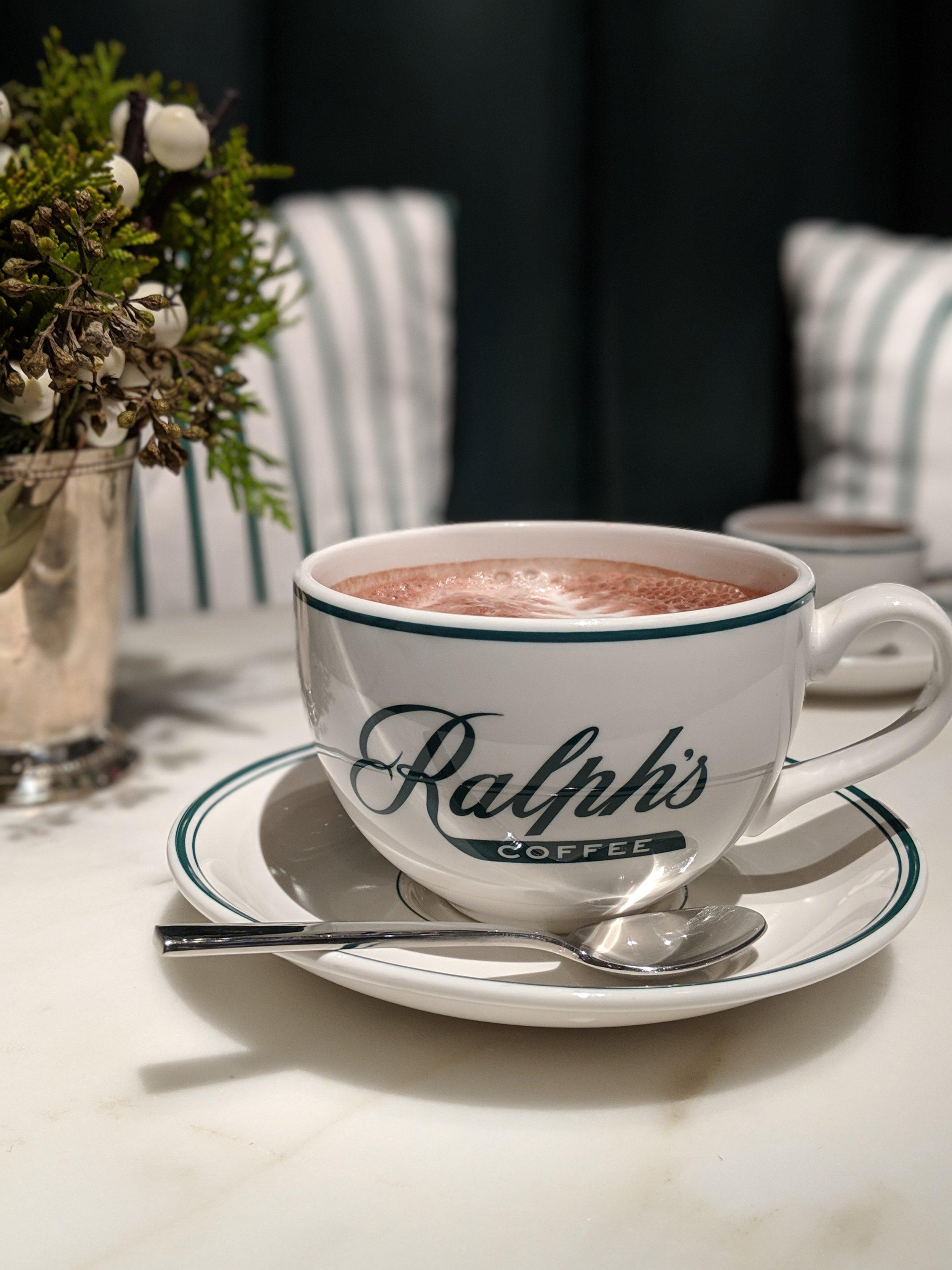 My new favorite coffee shop:  Ralph's Coffee  inside Ralph Lauren