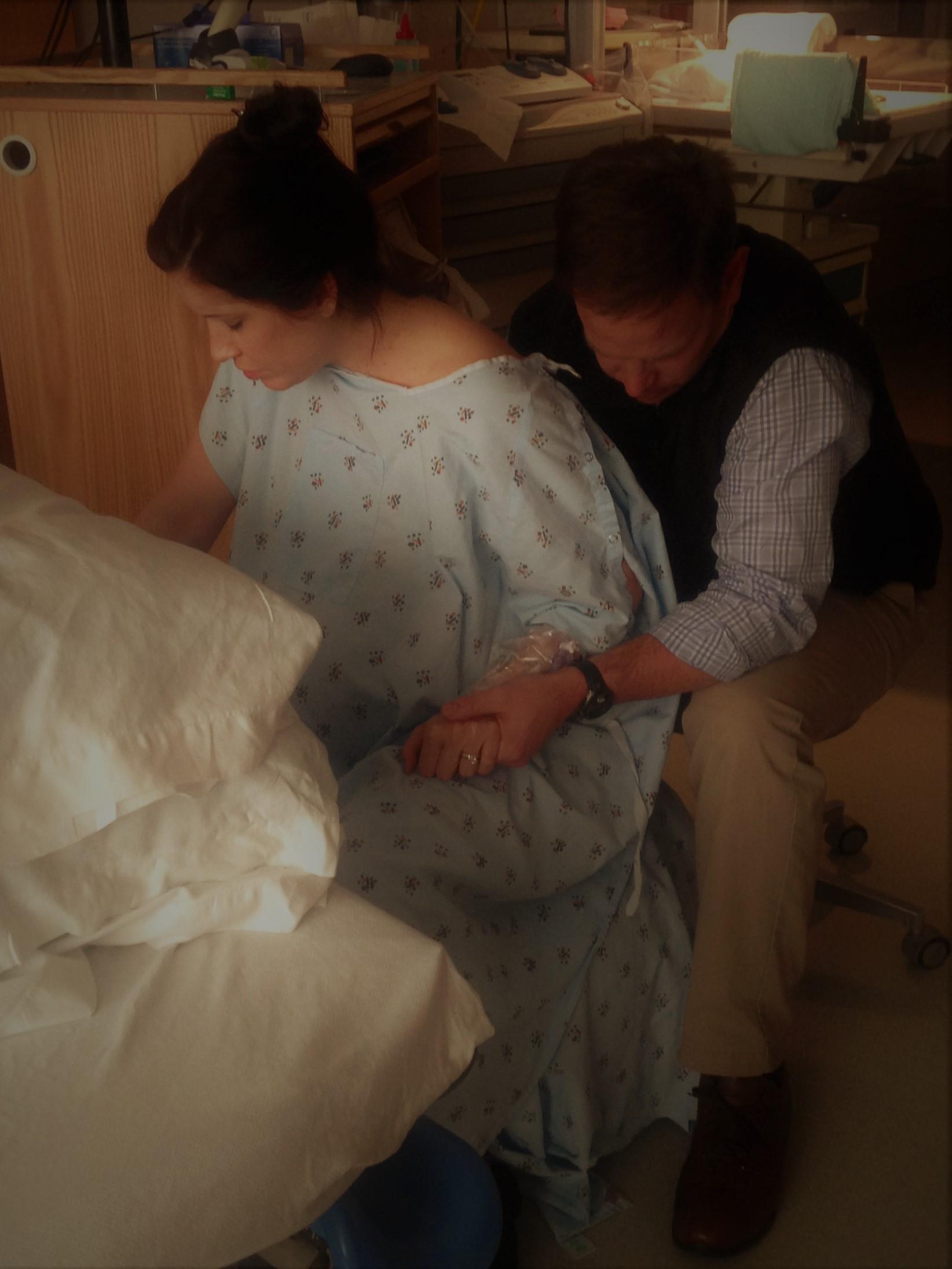 Always by my side…at  George Washington Hospita l in DC