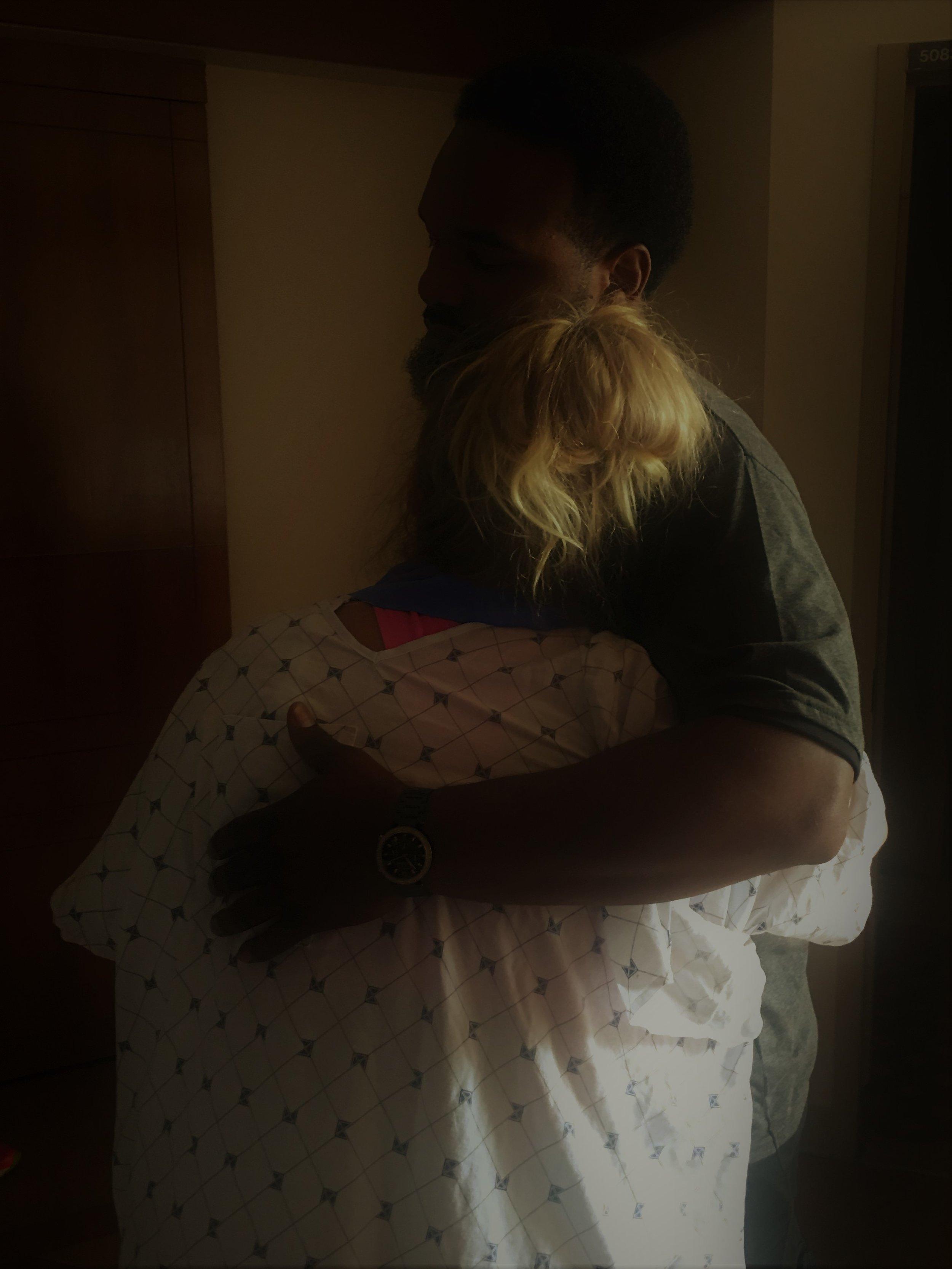 """""""I have you"""" At  Washington Hospital Center,  with Tabitha Kaza, rocking her VBAC"""