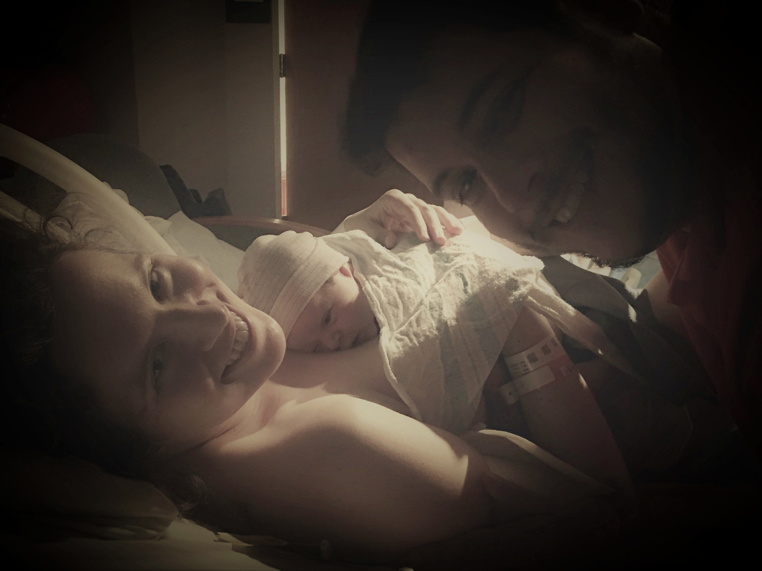 First moments with first baby...welcome to our family!  Heaven&Birth  at  Inova Fair Oaks Hospital