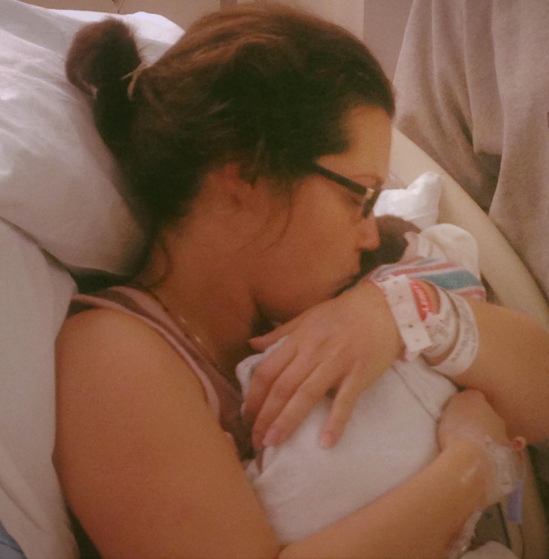 Mommy has you, little one …at  Inova Fairfax Hospital  with Tabitha Kaza
