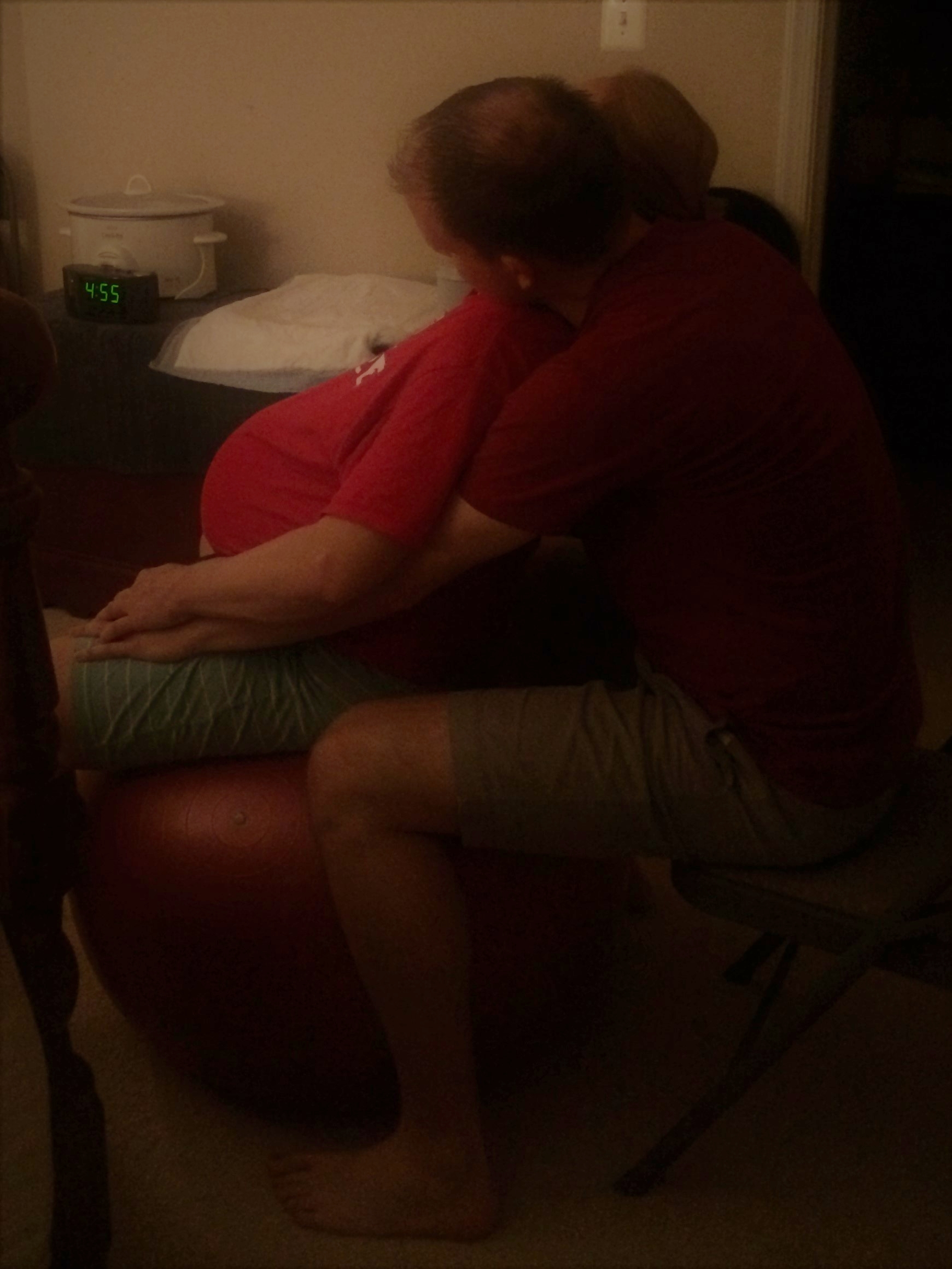 Is that AM or PM? No time in laborland...especially at a homebirth with Tabitha Kaza
