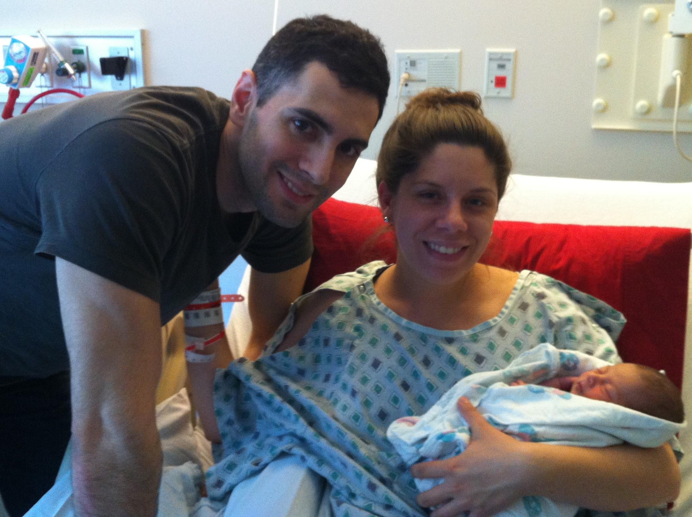 Now we are a family! At  Inova Fairfax Hospital,  with Tabitha Kaza