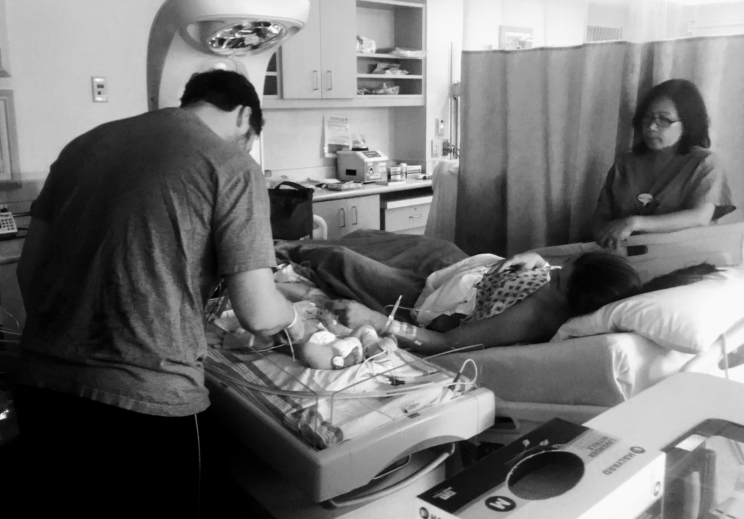 The purest love of all: post-op NICU visit —at  Prince William Hospital  with Tabitha Kaza