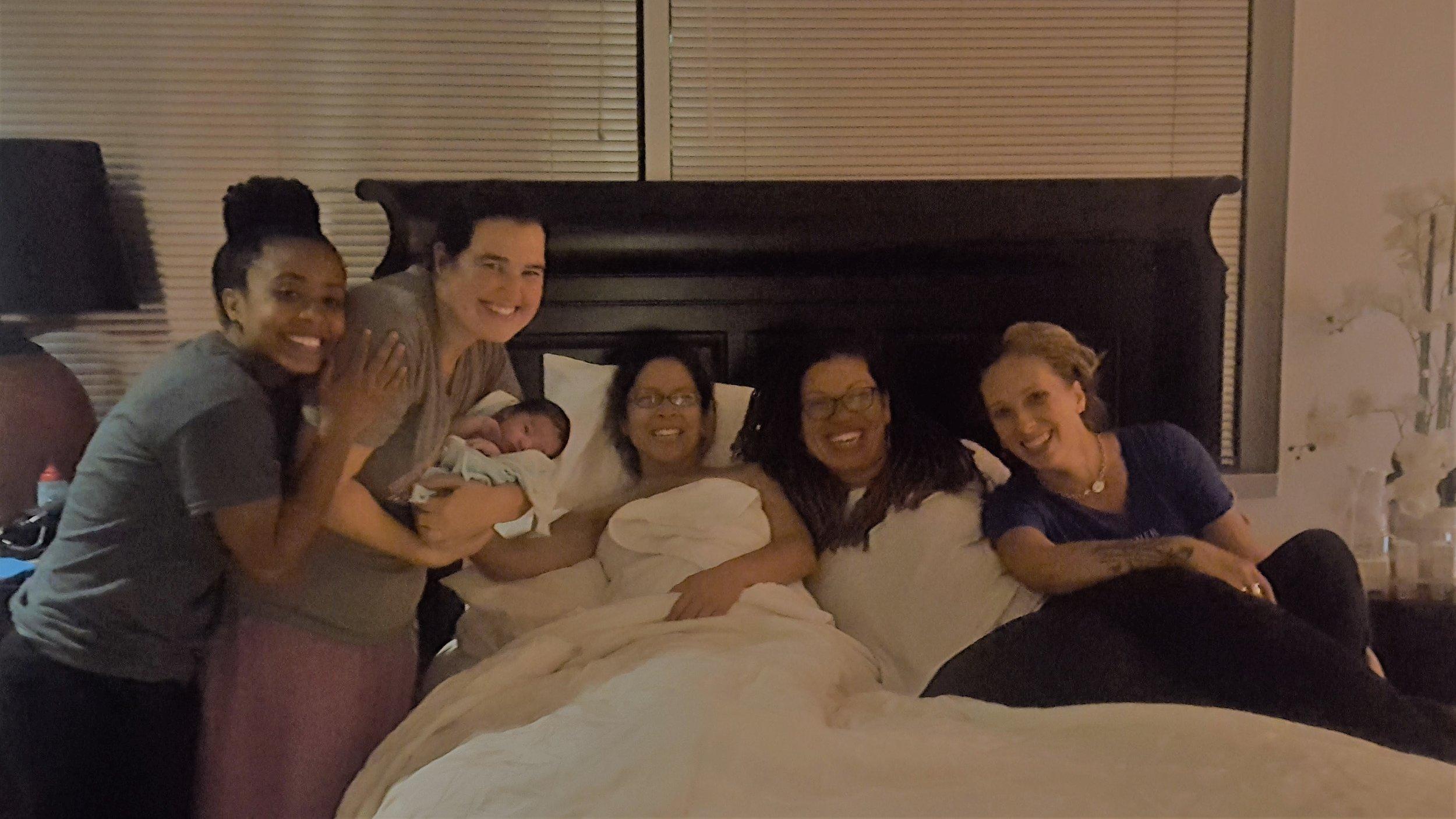 Beautiful birth center waterbirth at 42 weeks at Premier