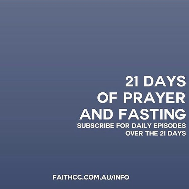 Daily videos from our Senior Pastor @mattheins are now up for our 21 days of Prayer and Fasting [link in @faithccmelb bio]. Subscribe at watch as we live out the vision for our church by being intentional.