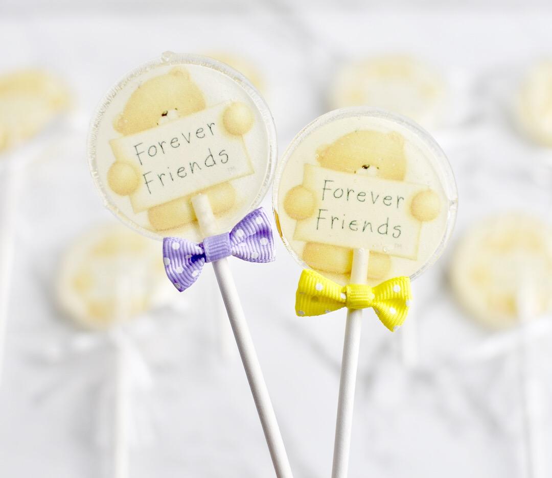 CUSTOM SUGAR LOLLIPOPS  Edible image hard candy lollipops  $3.00 each  Minimum Order Quantity : 20