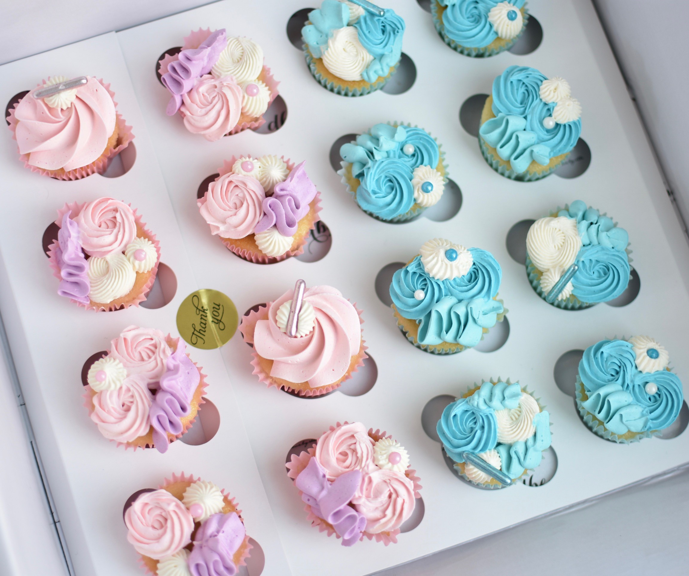 BABY SIZE BUTTERCREAM CUPCAKES  From $2.00 each  Minimum Order Quantity : 24 Per Flavour