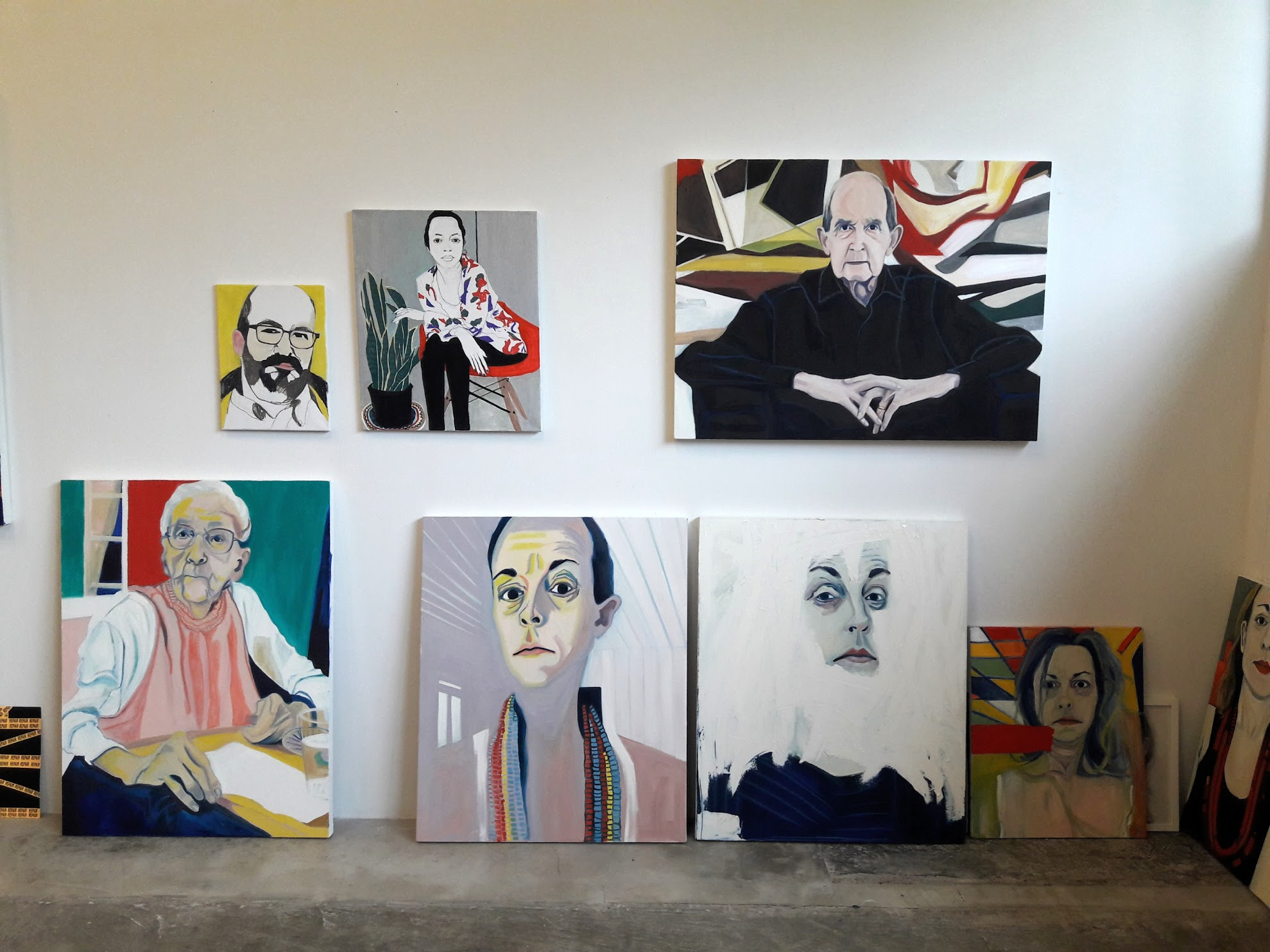 View of Sarah Fisher's studio. Photo courtesy of Alex Irrera