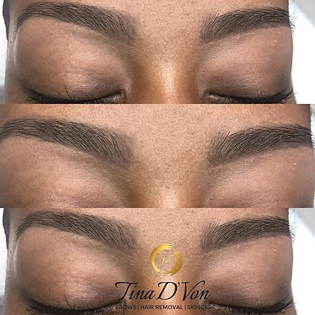 """I'm Soooo New to the Esthetics industry and even Newer to the Brow industry. But when I tell I ABSOLUTELY LOVE what I do! I'm SELF-TAUGHT and still perfecting my craft. I thank God every day for the people who seek me out. Y'all just don't know how that makes me feel to have SUPPORT from complete strangers. I guess that comes from living RIGHT (i did NOT say I'm Perfect) not treating people ugly and not acting ugly towards people. I may not be the most talkative, that's just the INTROVERT in me BUT my heart is Genuine and I'm HUMBLE. I'm still growing and I have a 6 month to a year plan. With GOD's will, I SHALL SUCCEED💪🏾 ▪️Click the """"Book"""" tab in my bio for all your hair removal needs🤗 ******************************* 💕 💕 💕 💕 💕 💕 💕 #TinaDVon #raleighbrows #raleighblogger #love #raleighmua #raleighlashes #raleighnails #raleighhair #raleighmakeupartist #raleighnightlife #raleighbraider #durhammakeupartist #raleighhairstylist #browbabes #raleighspa #raleighbeauty #durhamhairstylist #durhamnails #durhambraider #durhammua  #durhambrows #carybrows #carynails #eyes #archaddicts #niccktownsendsalon"""