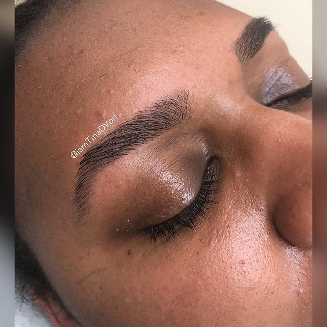 """All Brow Tails DON'T Have to Be THIN at the Ends. She wanted a nice natural Flow!!! ▪️Click the """"Book"""" tab in my bio for ALL your hair removal needs🤗 ******************************* 💕 💕 💕 💕 💕 💕 💕 #TinaDVon #raleighbrows #raleighblogger #raleighmassage #raleighmua #raleighlashes #estheticianlife #Eyebrows #HairRemoval #raleighbraider #Skincare #raleighphotographer #Esthetician #RaleighEsthetician #NC #durhamhairstylist #Bodywaxing #EyebrowsonFleek #raleighbrows  #durhambrows #Brows #browwaxing #waxingstudio #Raleighbrows #BrowBoss #browgoals #WaxSpecialist #raleighbloggers #Durham"""
