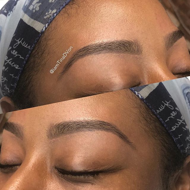 """Birthday Brows for this Doll! Pleasure meeting. Thank you for allowing me to take you on this Brow Journey 😘❤️ ▪️Click the """"Book"""" tab in my bio for all your hair removal needs🤗 ******************************* 💕 💕 💕 💕 💕 💕 💕 #TinaDVon #raleighbrows #raleighblogger #raleighmassage #raleighmua #raleighlashes #raleigheyebrows #raleigheyebrowwaxing #HairRemoval #Bodywax #Skincare #waxspecialist #raleighbraids #RaleighEsthetician #NC #durhamhairstylist #durhambrows #EyebrowsonFleek #raleighbrows  #durhambrows #durhammua #raleighmua #waxingstudio #Raleighbrows #BrowBoss #browgoals #WaxSpecialist #durhamwaxing #Durham"""