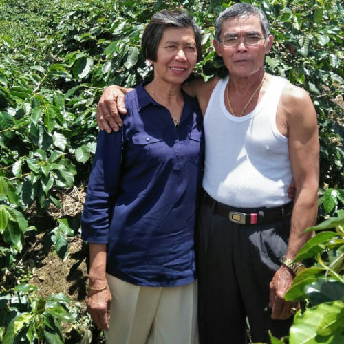 Aunt Josie and Uncle Victor are coffee farmers