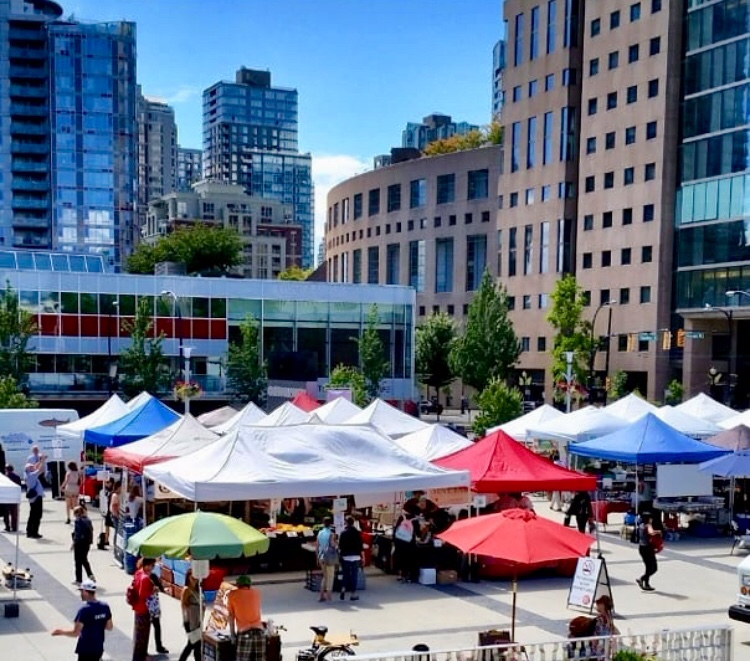 Vancouver Farmers Market - Downtown (Queen Elizabeth Theatre Plaza) - Thursdays 3-7pm - map hereJuly 18, 25, August 1, 8, 15photo from @vanmarkets Instagram