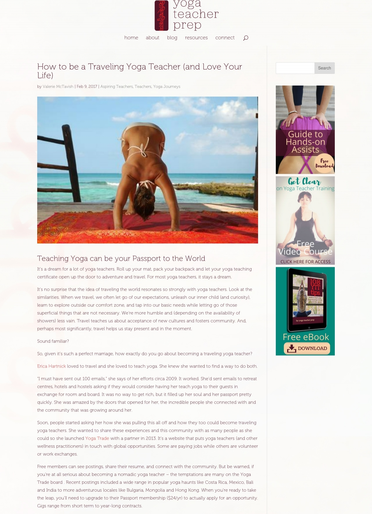 Yoga Teacher Prep Interview - Click to read tips on how to become a traveling yoga teacher!