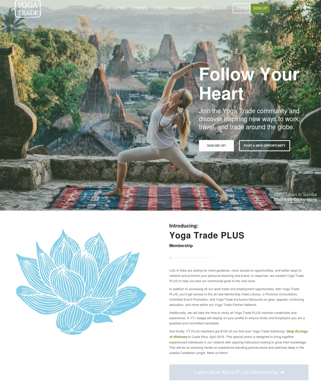 Yoga Trade's First Travel Rep! - Click to read more