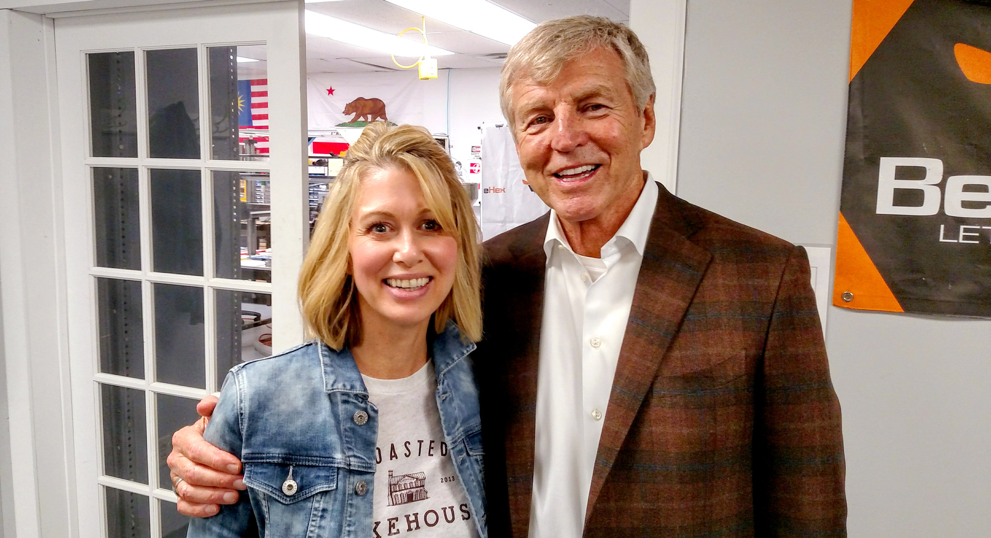 Erika Boll, Founder and CEO of the Toasted Oat, and Jim Grote, Founder of Donatos, the Grote Company, and the EDGE Innovation Hub.
