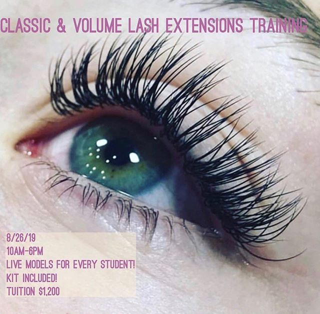 Sunkissed salon is now enrolling for Lash Extensions Classic & Volume Course!  8/26/2019 @sunkissed.salon  Text (408)644-0367 to enroll!