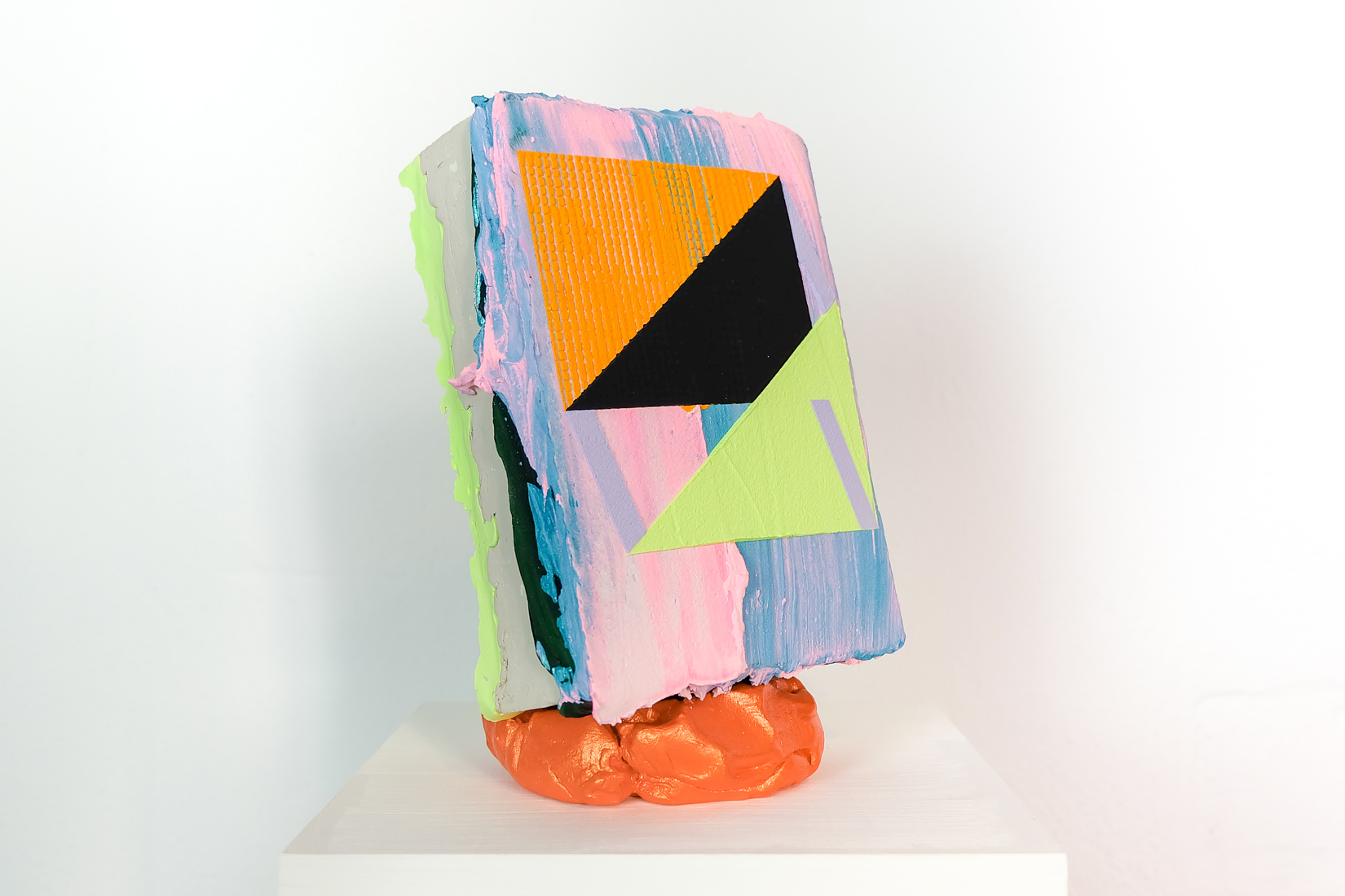 Lisa Denyer Catapult 2018 acrylic, collage, filler and clay 21x13x11cm.jpg