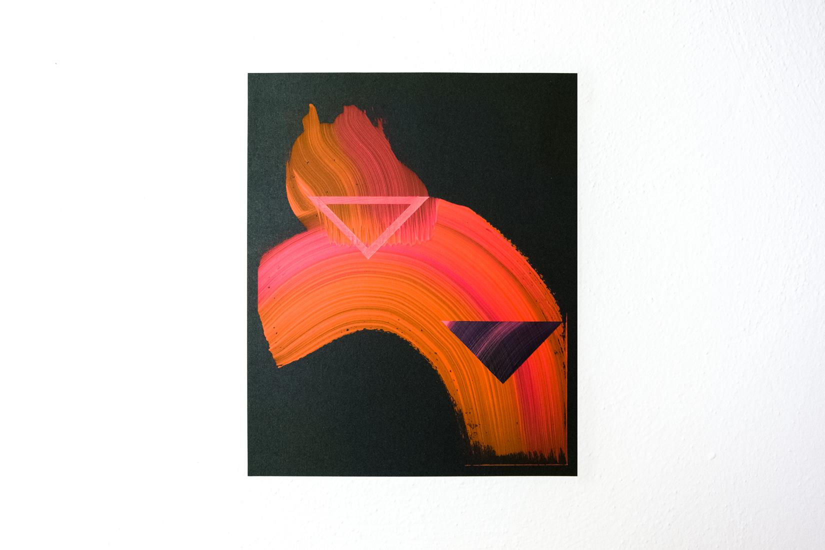 Lisa Denyer Embers 2018 acrylic on sandpaper 28x23cm.jpg