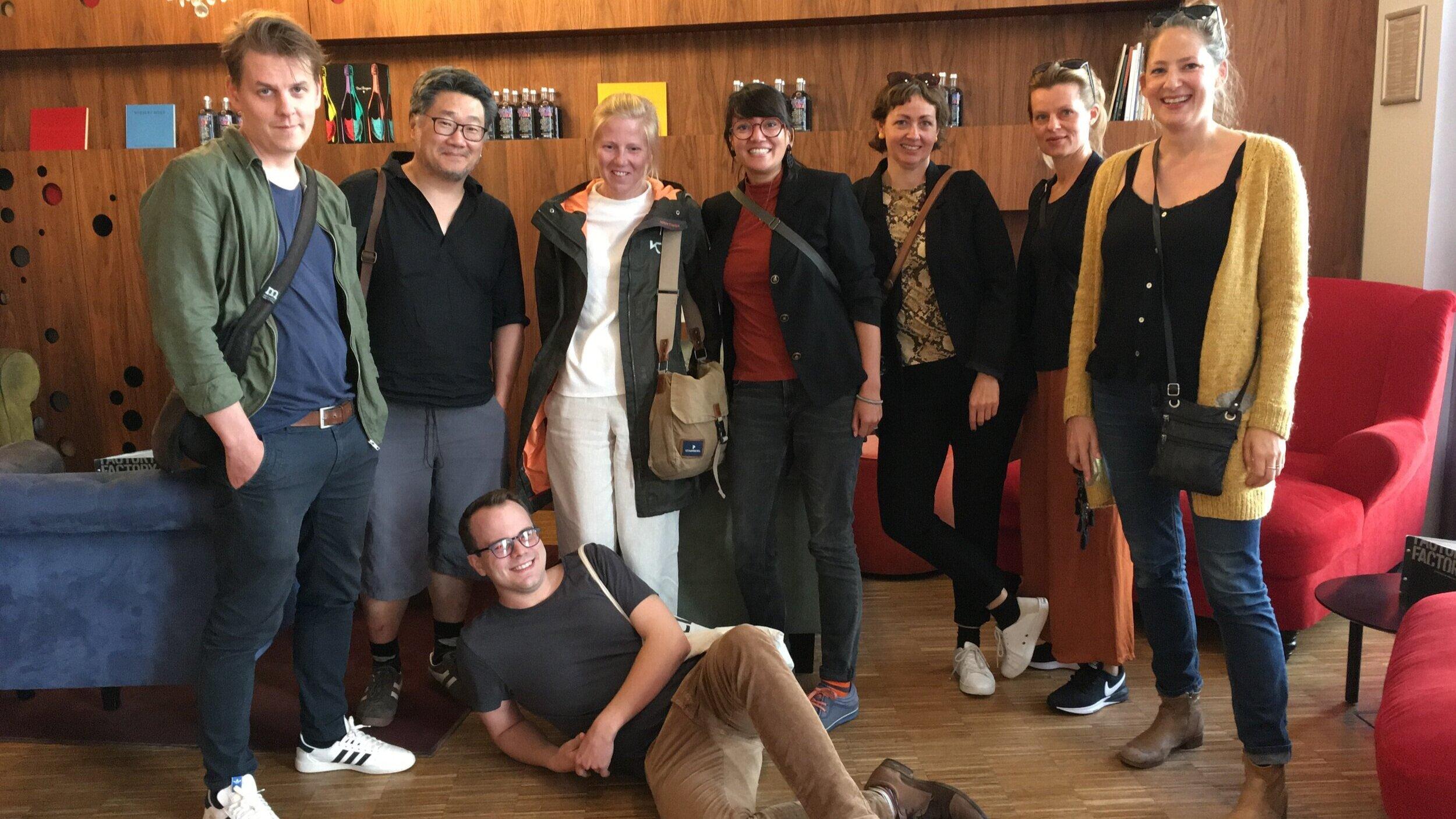 Erik Jonsson, Patrik Tornéus, Kristina Grönberg, Elenor Nordström, Therese Bakkevoll, Ingvild Solstad-Nøis, Maríanna Lúthersdóttir och Ilkka Nyqvist representerade festivalerna under denna nätverksträff.