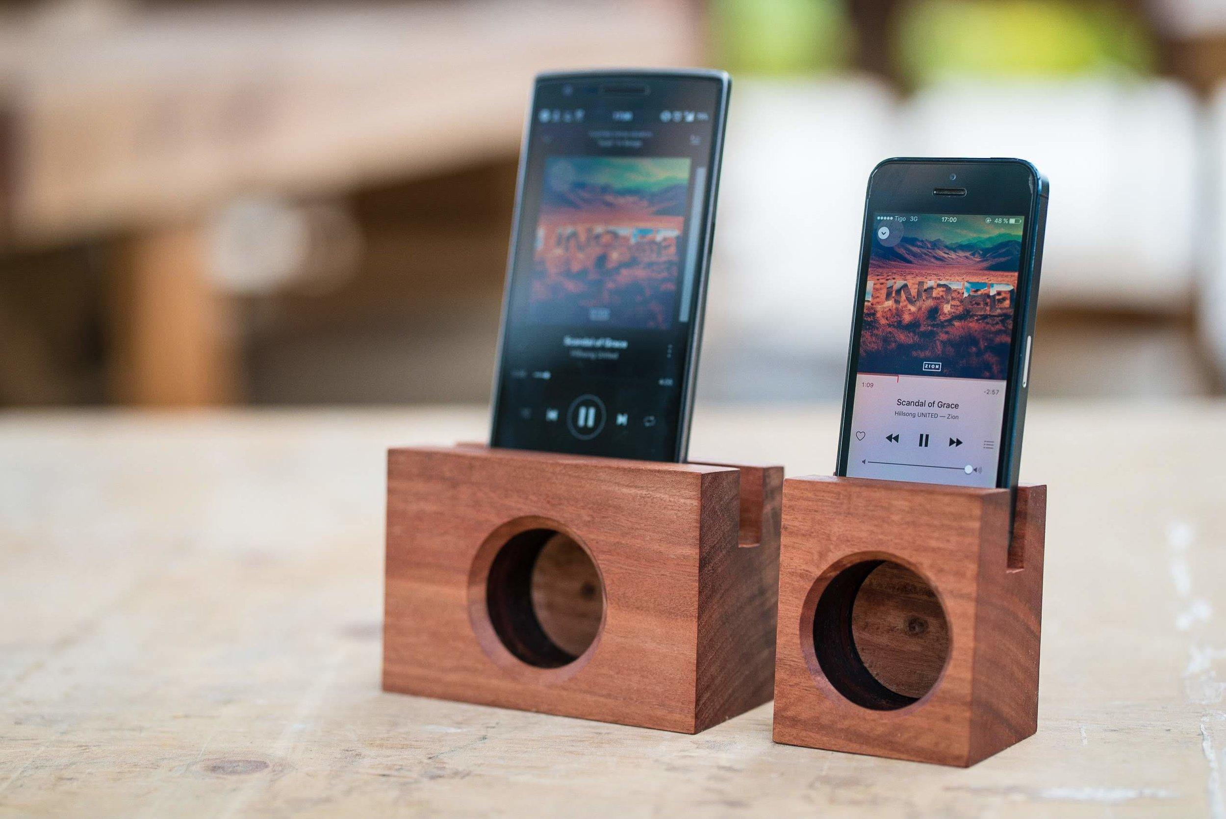"""Wooden """"Speakers"""""""