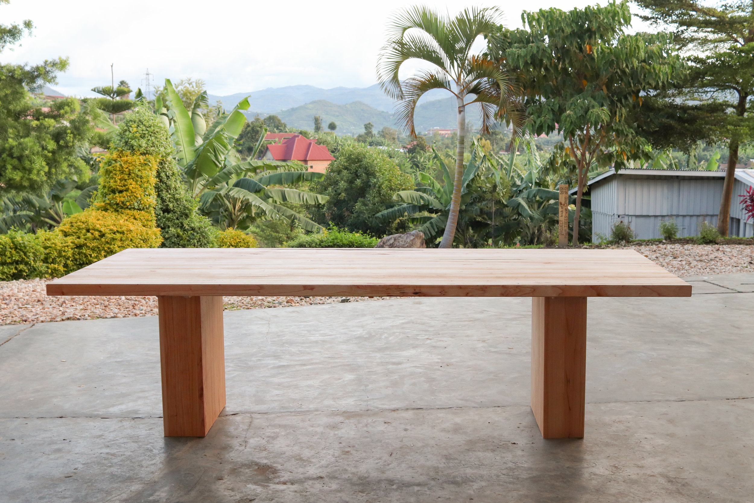 Dining table in Cedar